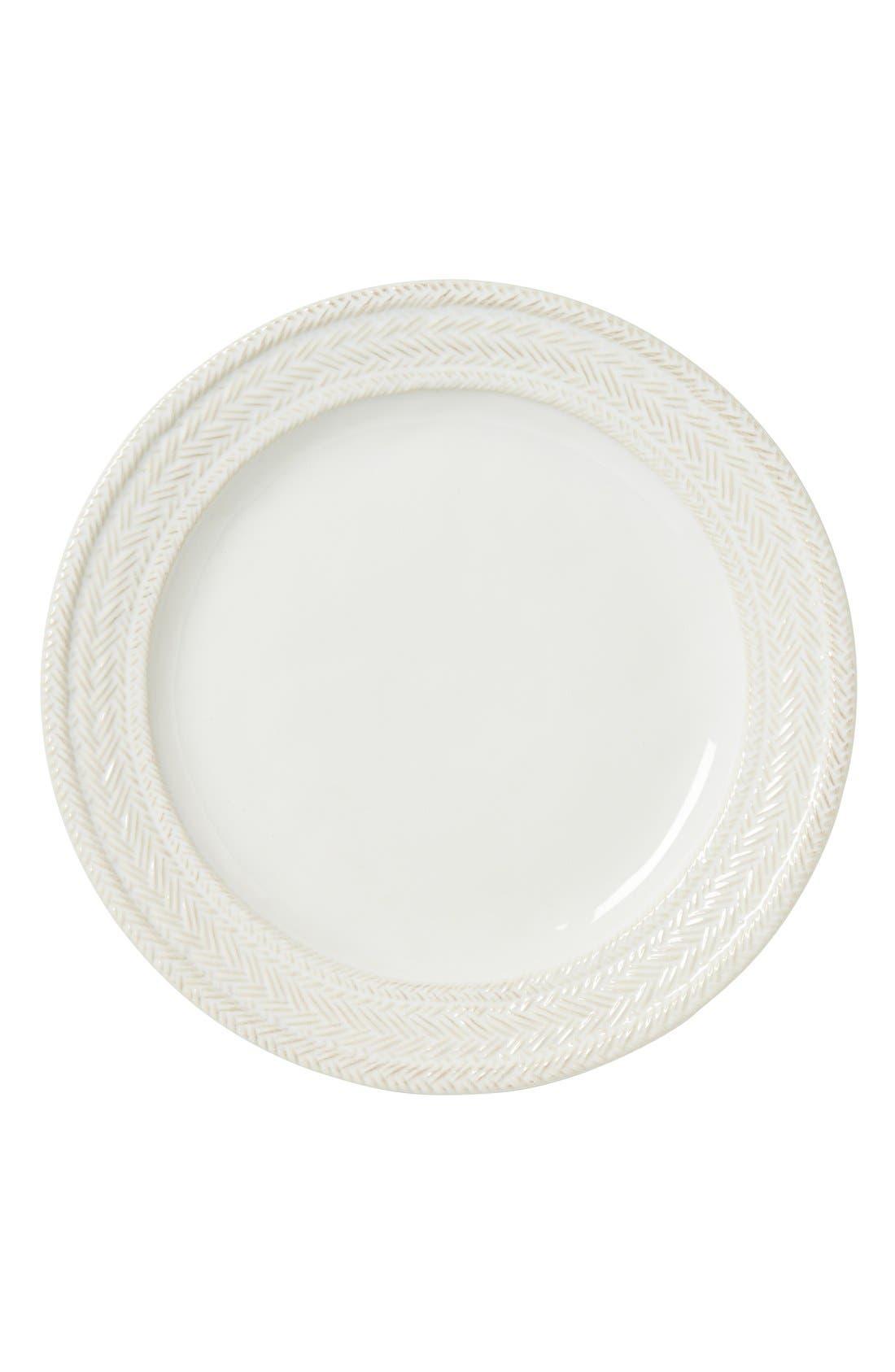 Le Panier Dinner Plate,                             Main thumbnail 1, color,                             WHITEWASH