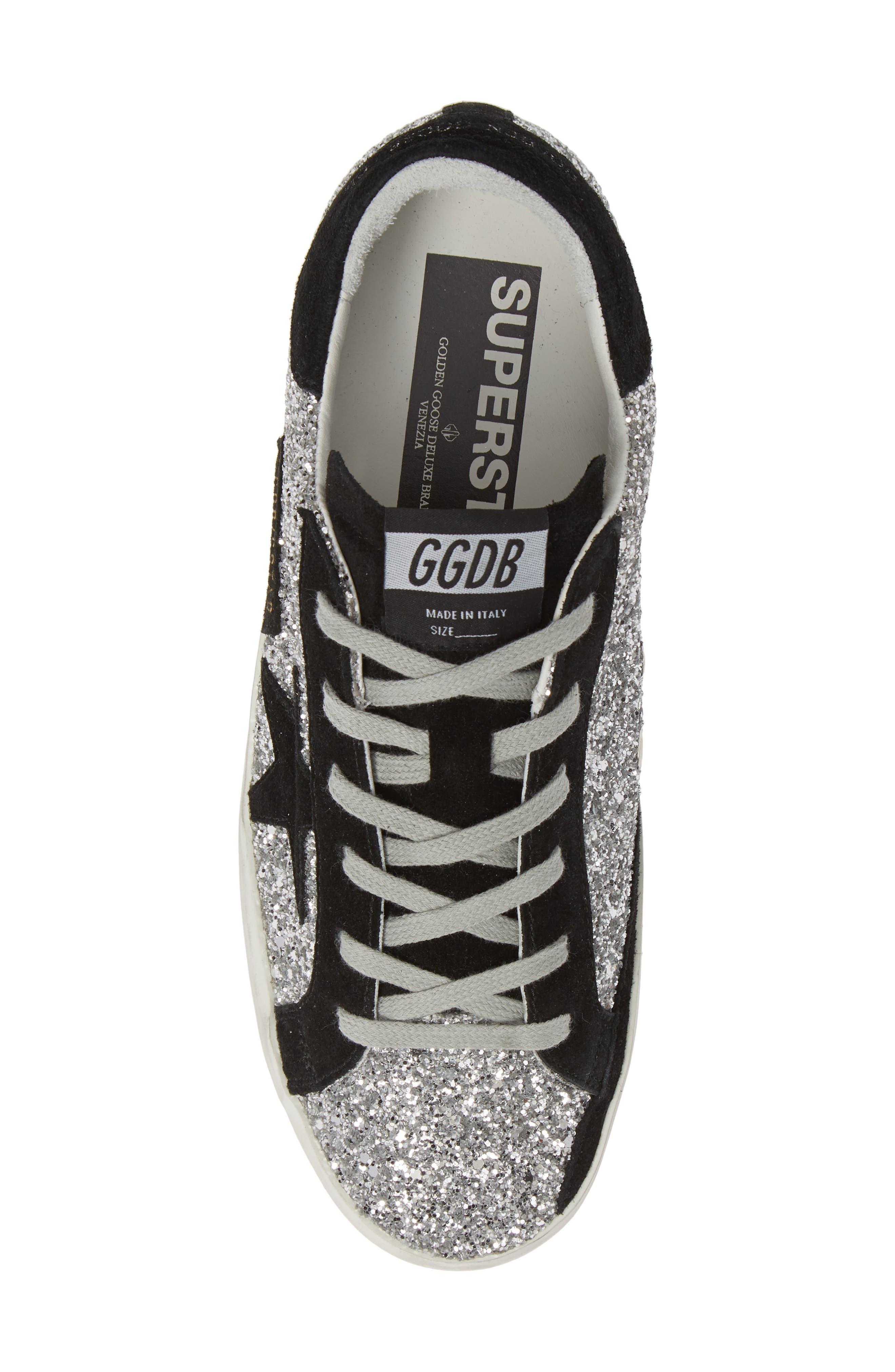 Superstar Glitter Sneaker,                             Alternate thumbnail 5, color,                             040