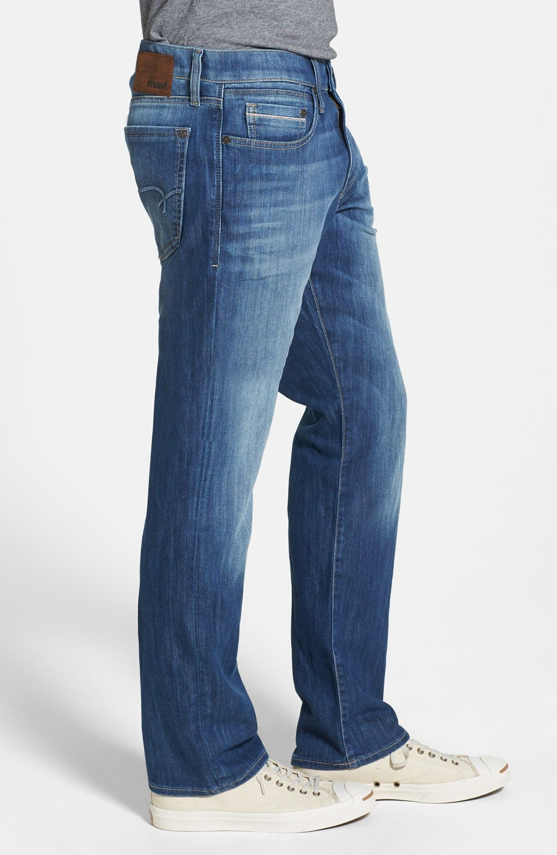 'Myles' Straight Leg Jeans,                             Alternate thumbnail 4, color,                             420