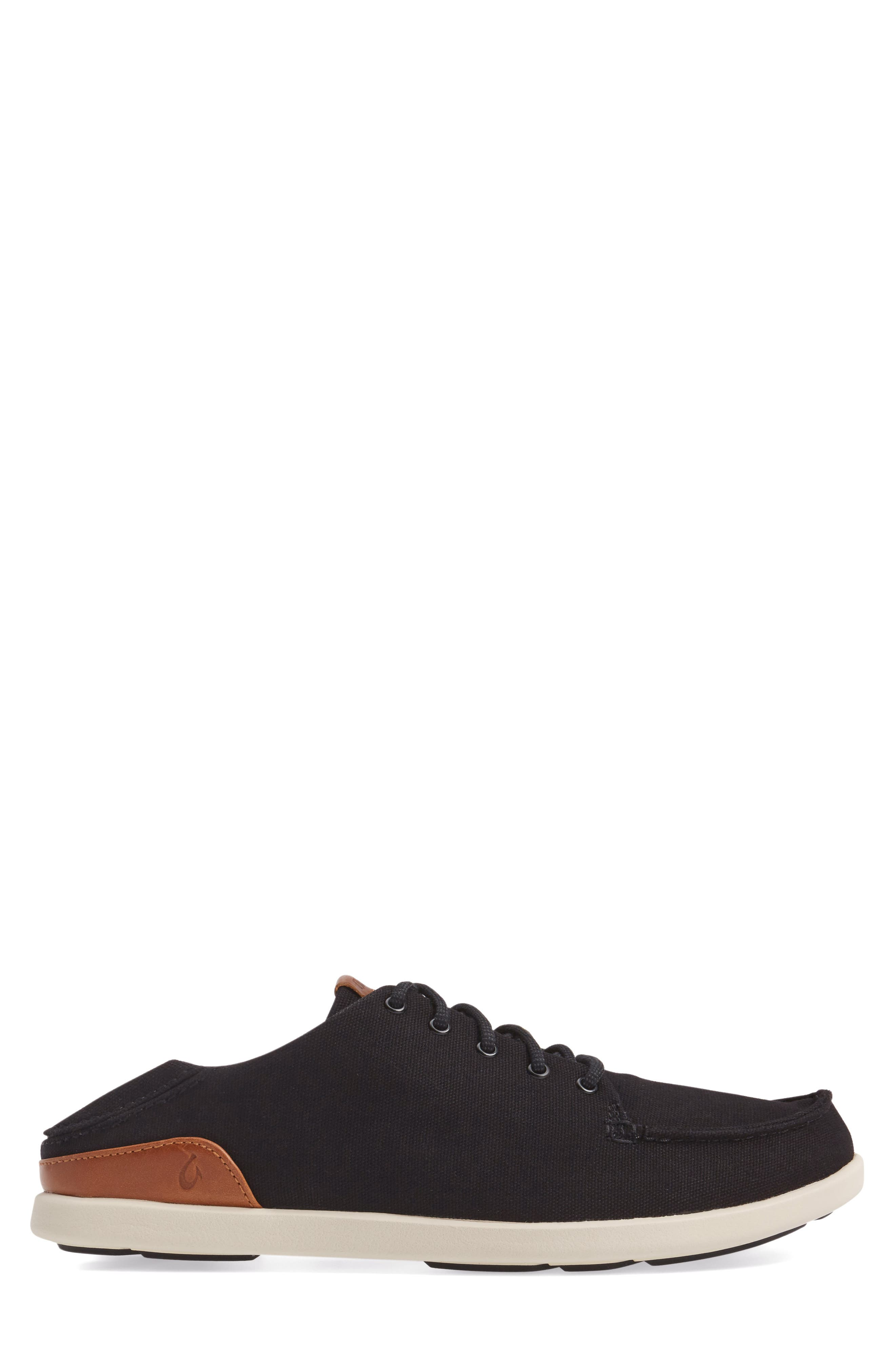 Manoa Sneaker,                             Alternate thumbnail 3, color,                             BLACK/ MUSTARD