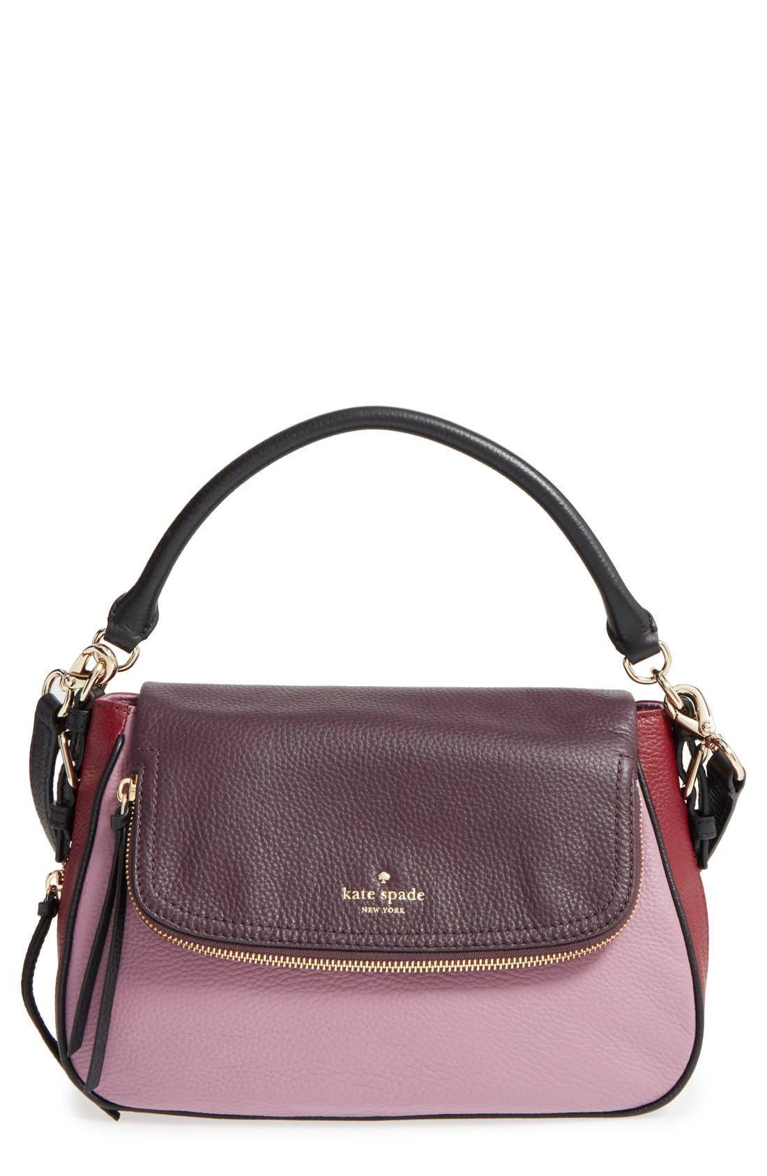 cobble hill - deva leather crossbody bag,                             Main thumbnail 8, color,