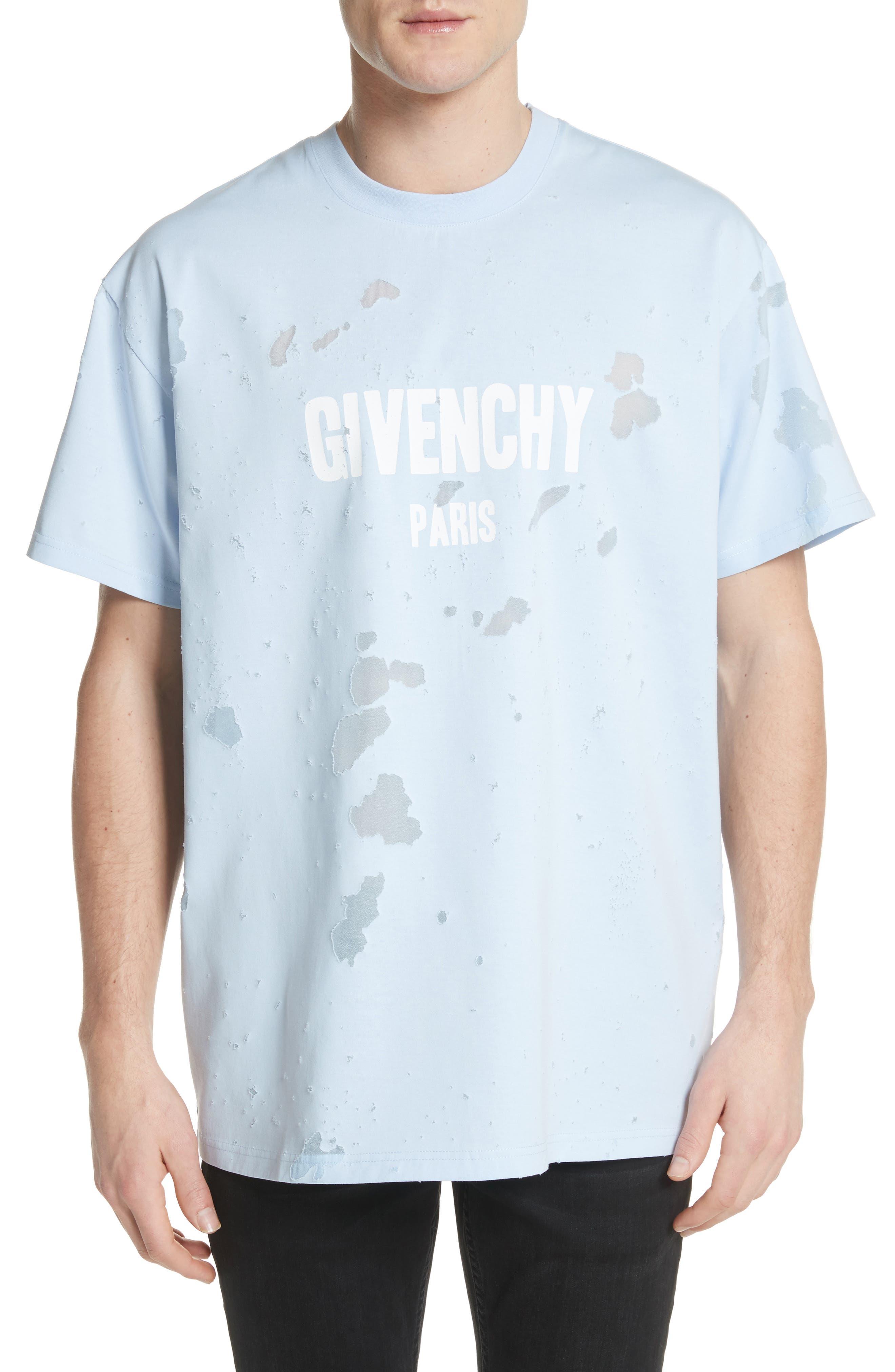 Destroyed Logo Graphic T-Shirt,                         Main,                         color, BLUE