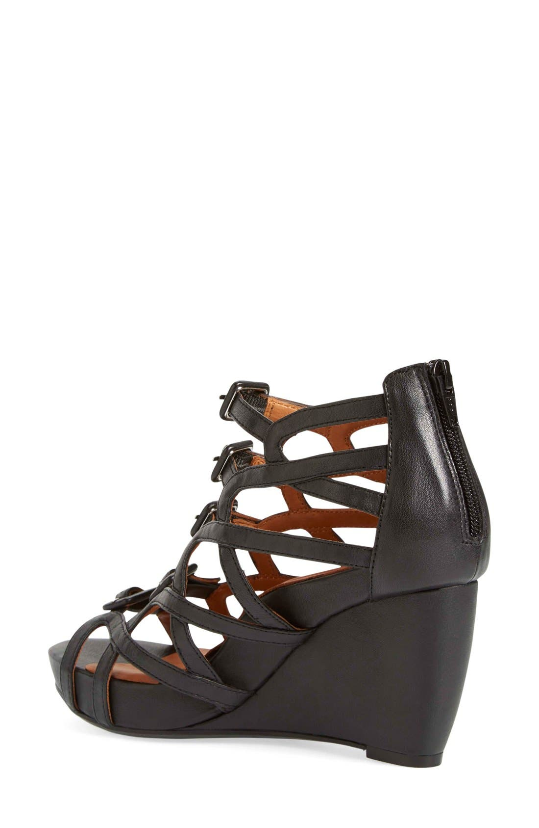 Ivanna' Gladiator Wedge Sandal,                             Alternate thumbnail 8, color,