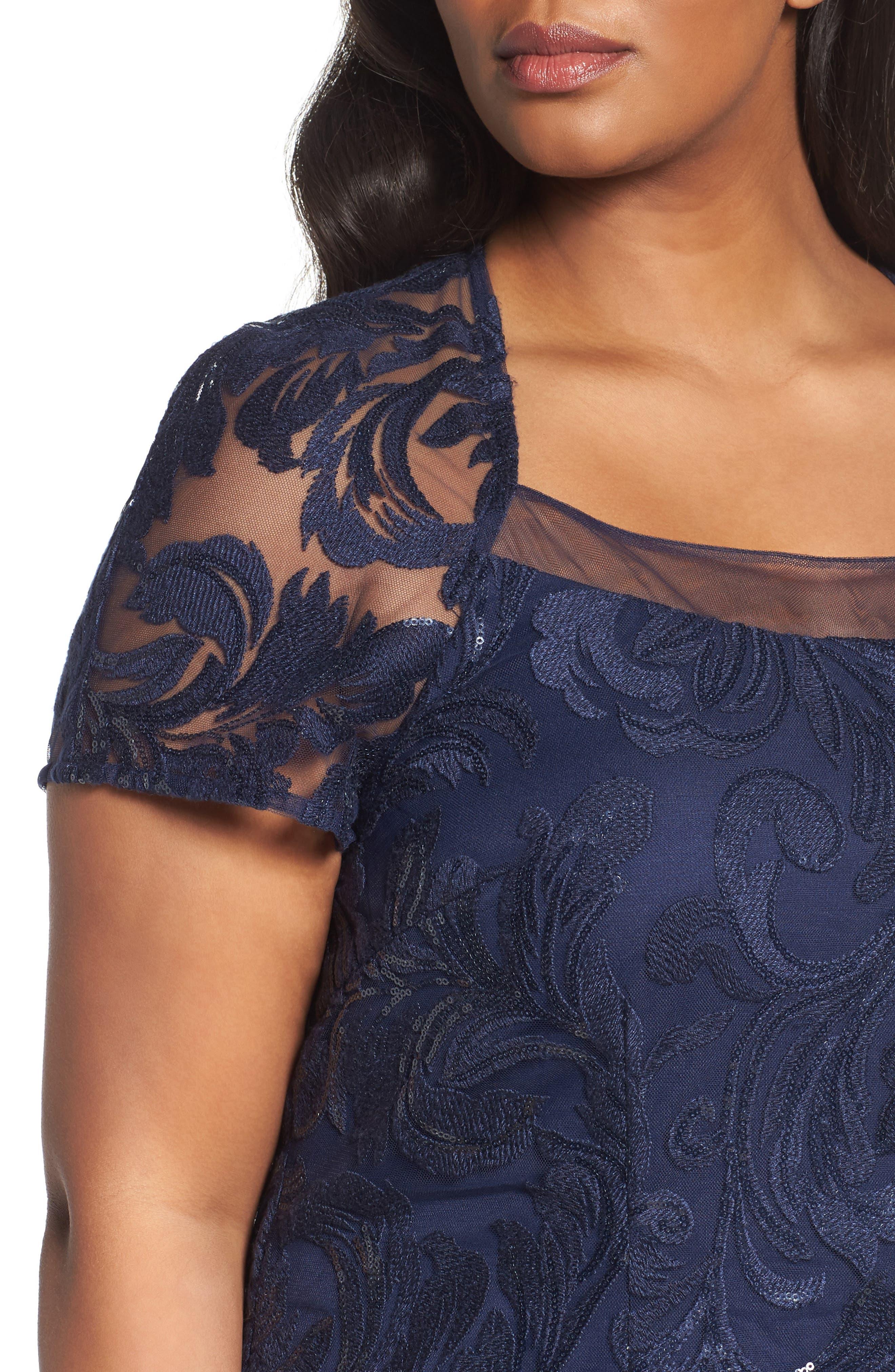 Sequin Bodice Gown,                             Alternate thumbnail 4, color,                             410