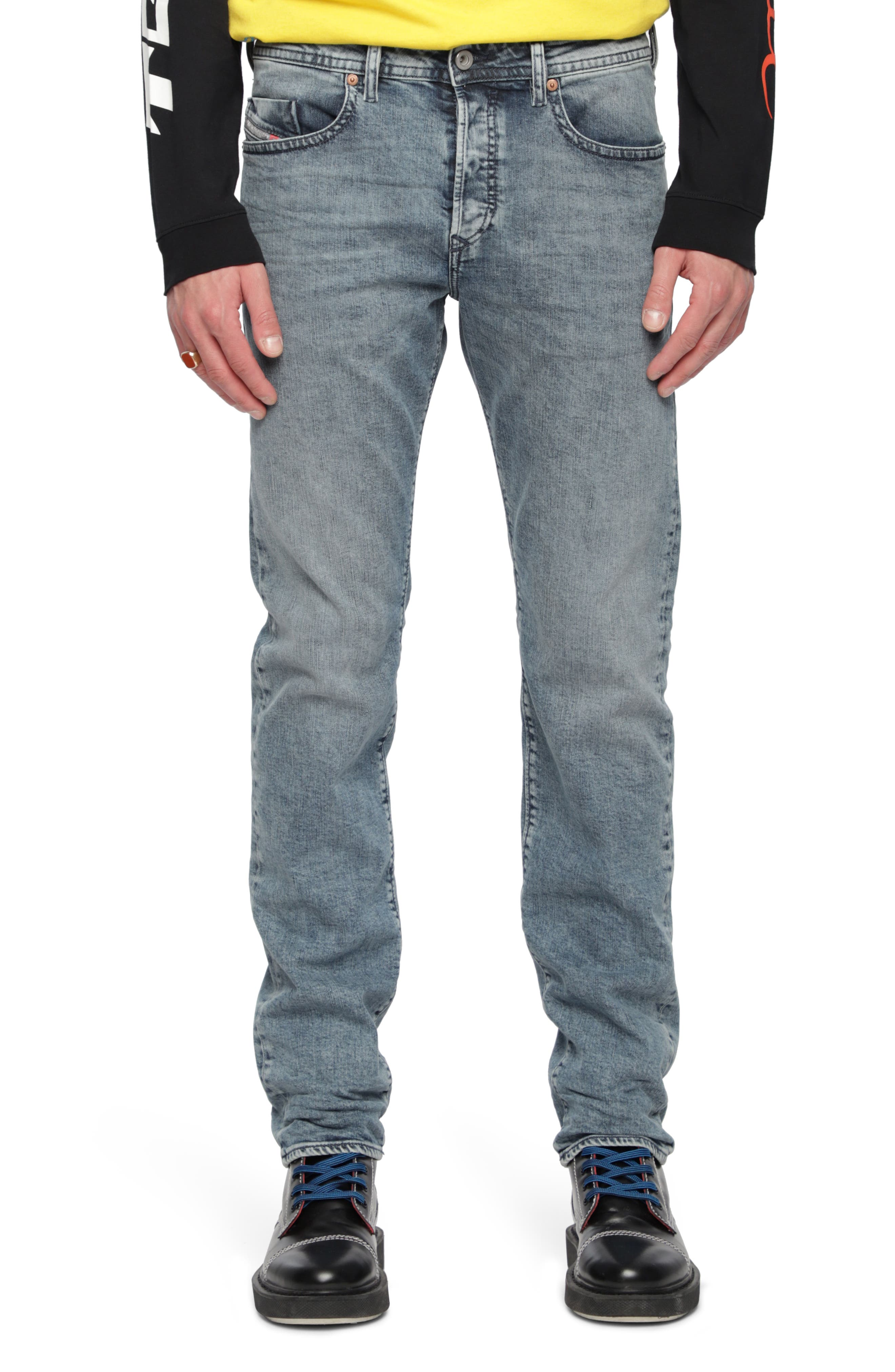 Buster Slim Fit Straight Leg Jeans,                             Main thumbnail 1, color,                             400