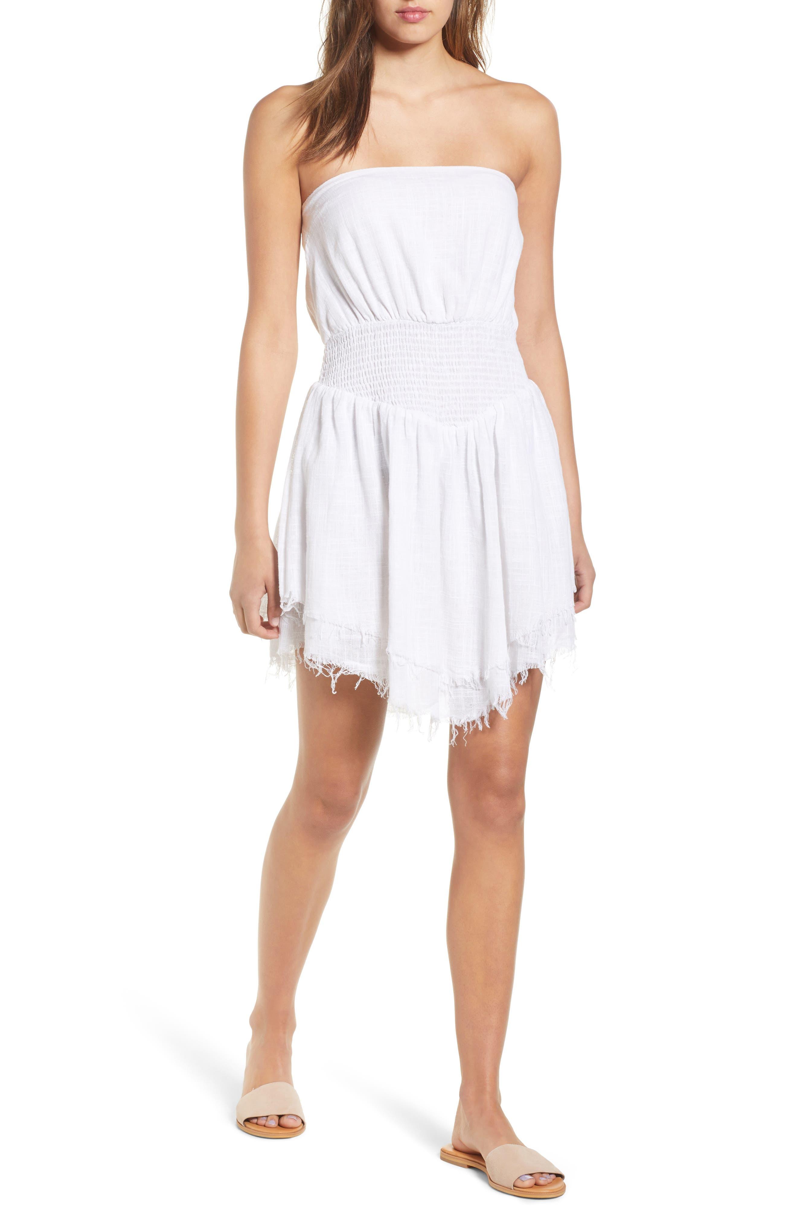 Lucid Dreaming Strapless Minidress,                         Main,                         color,