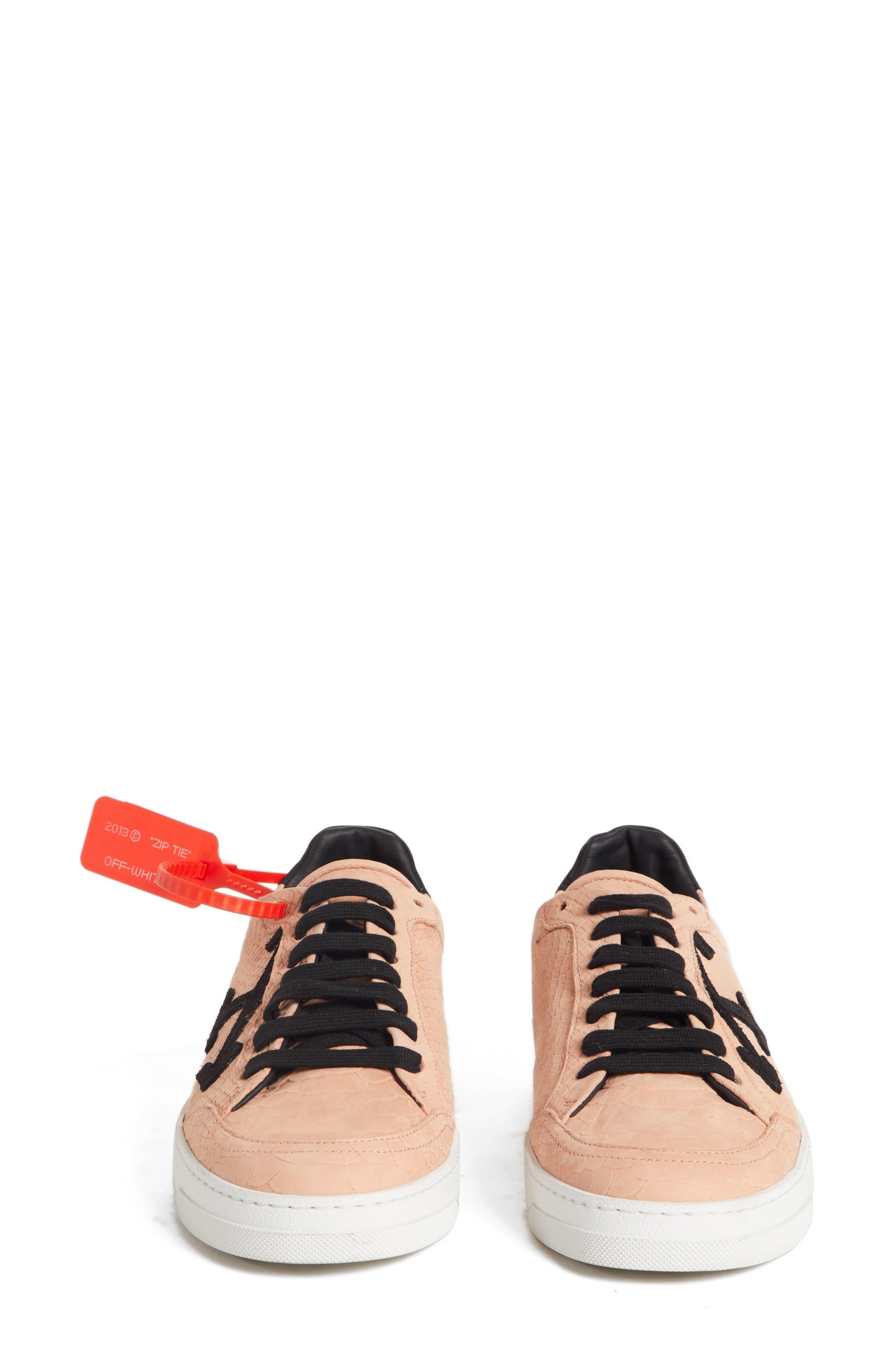 Arrow Sneaker,                             Alternate thumbnail 4, color,                             SALMON BLACK