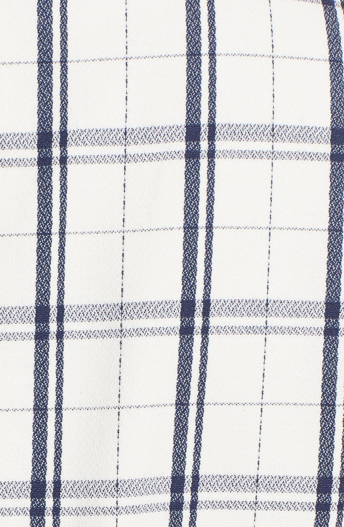 THEORY,                             'Adraya' Check Stretch Wool Shift Dress,                             Alternate thumbnail 3, color,                             900
