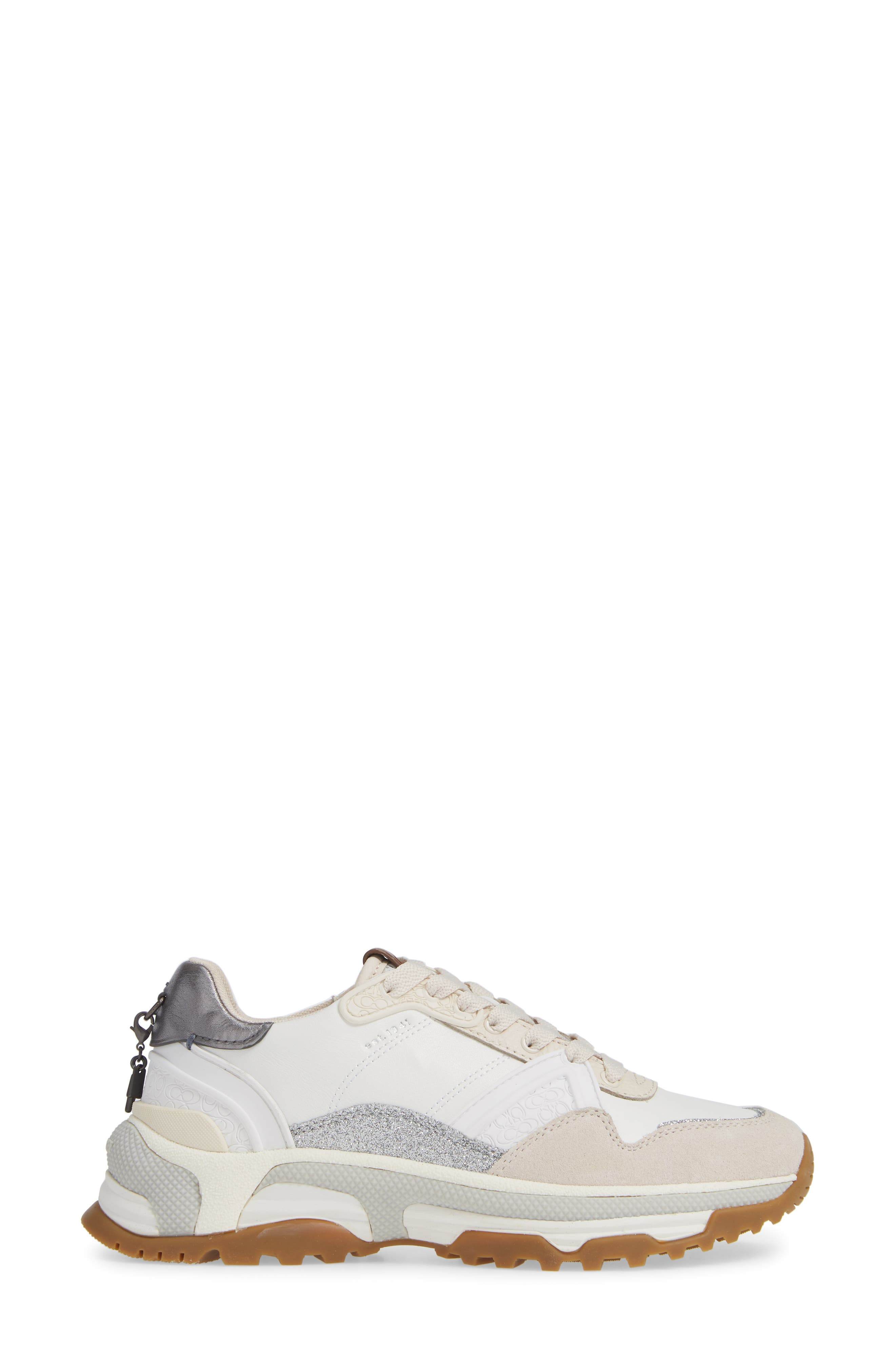 GLT Sneaker,                             Alternate thumbnail 3, color,                             WHITE LEATHER/ SUEDE