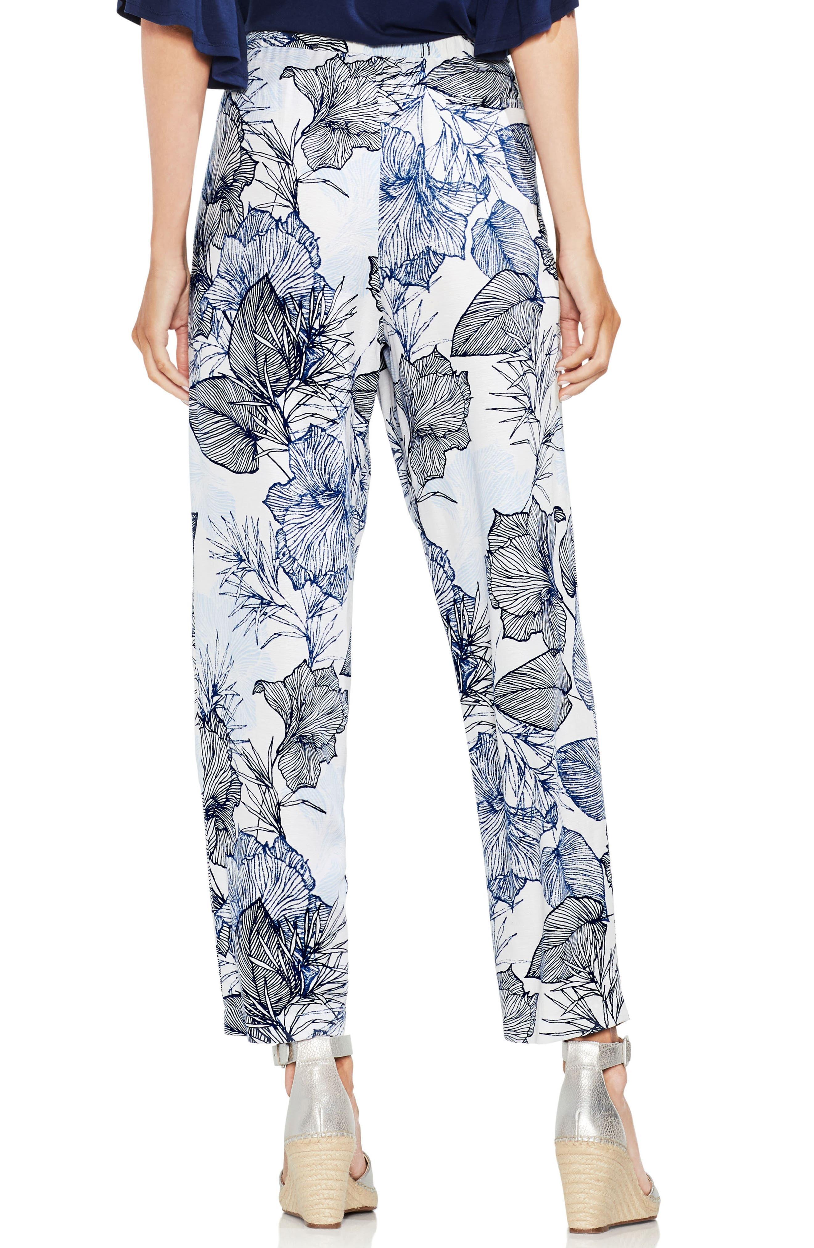 Etched Island Floral Slim Pants,                             Alternate thumbnail 2, color,