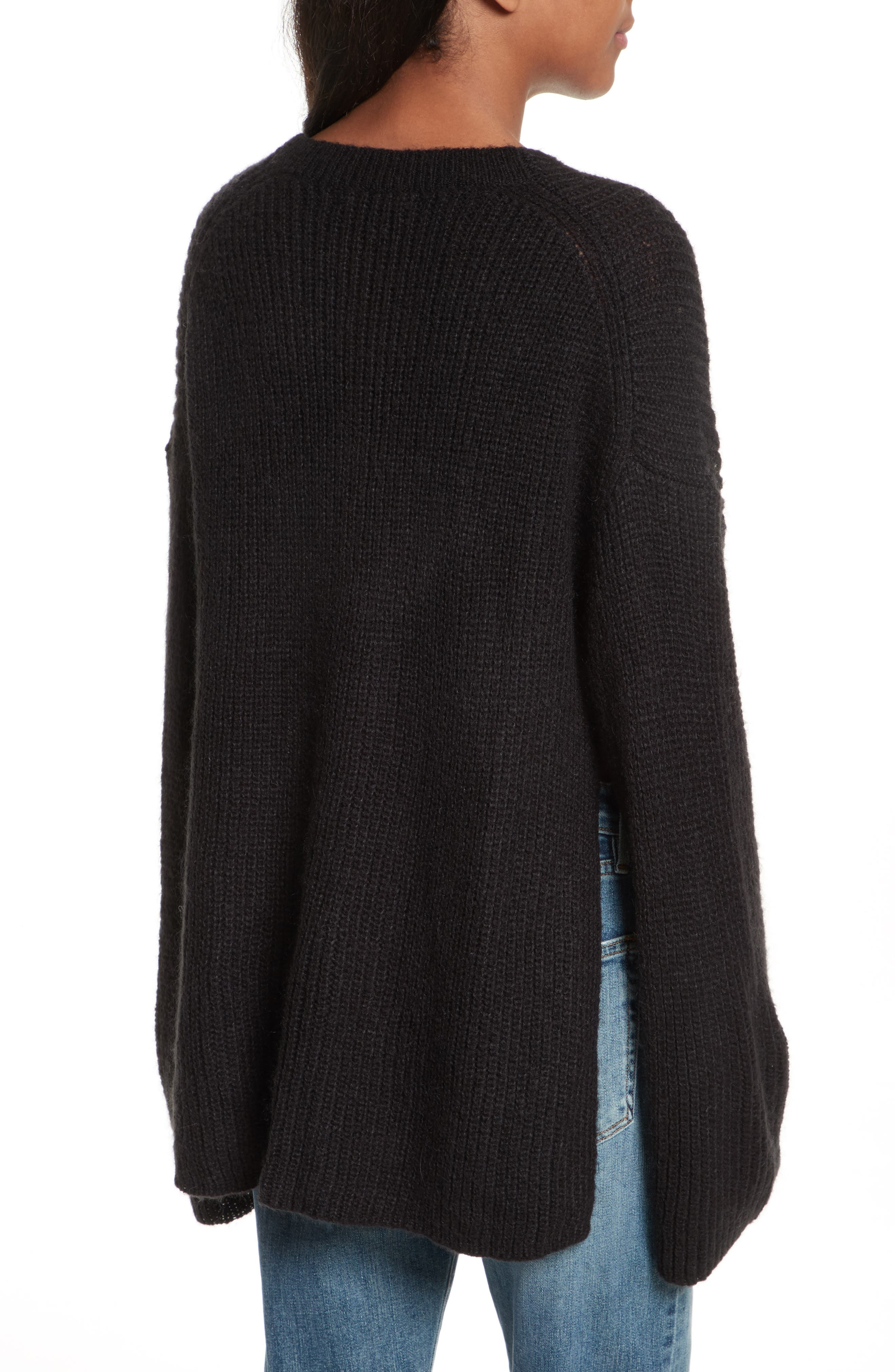 Remi Oversize Sweater,                             Alternate thumbnail 2, color,                             001