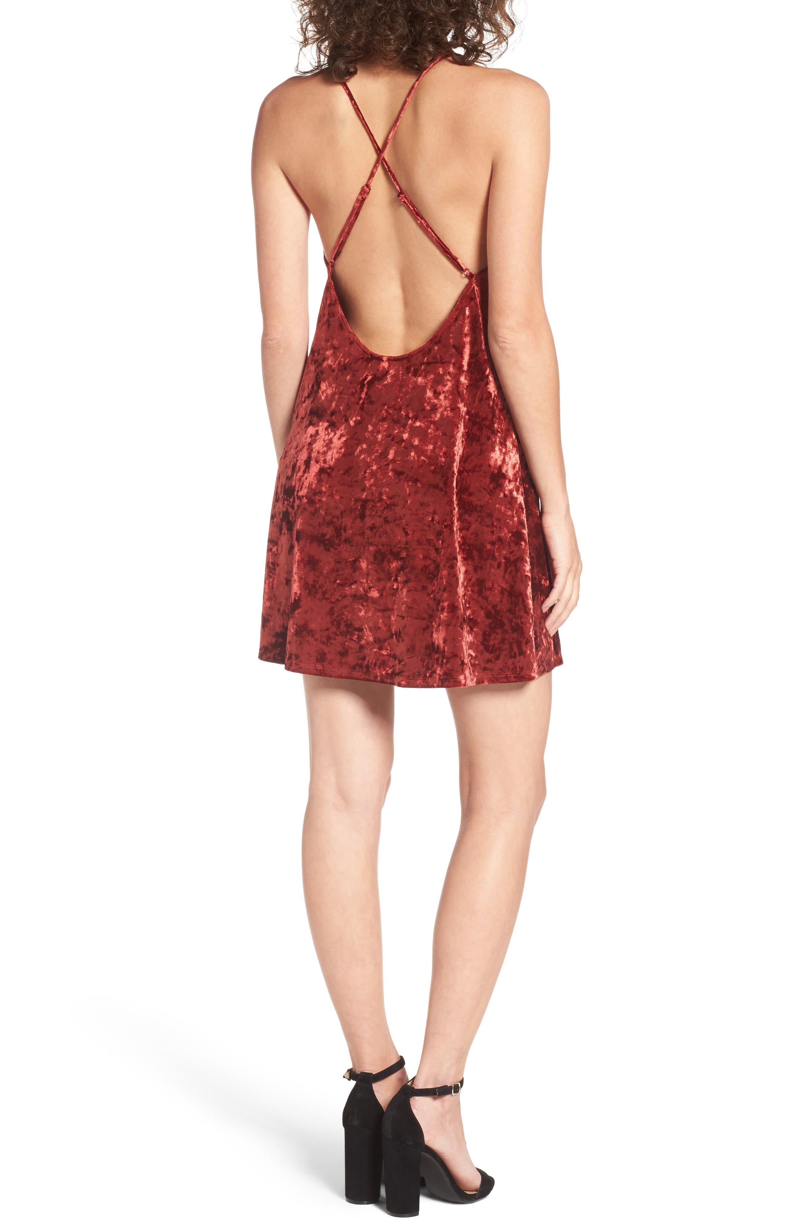 Raymore Crushed Velvet Minidress,                             Alternate thumbnail 2, color,