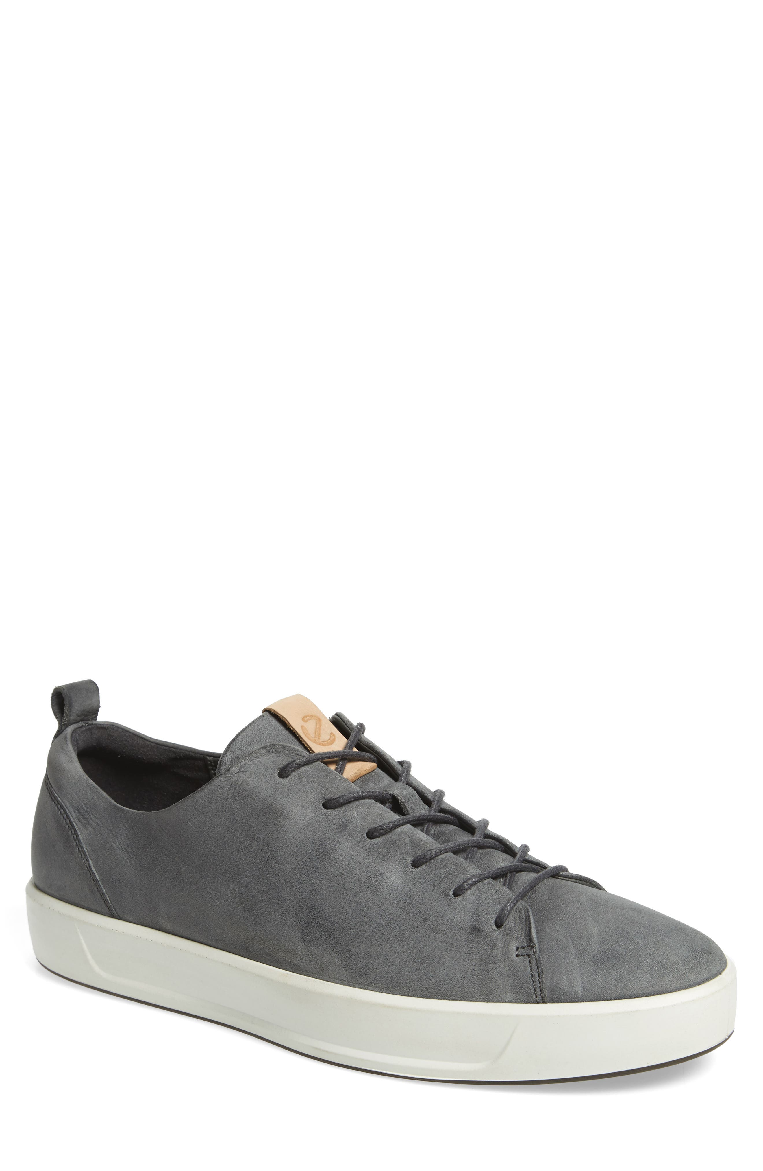 Soft 8 Sneaker,                         Main,                         color, DARK SHADOW LEATHER