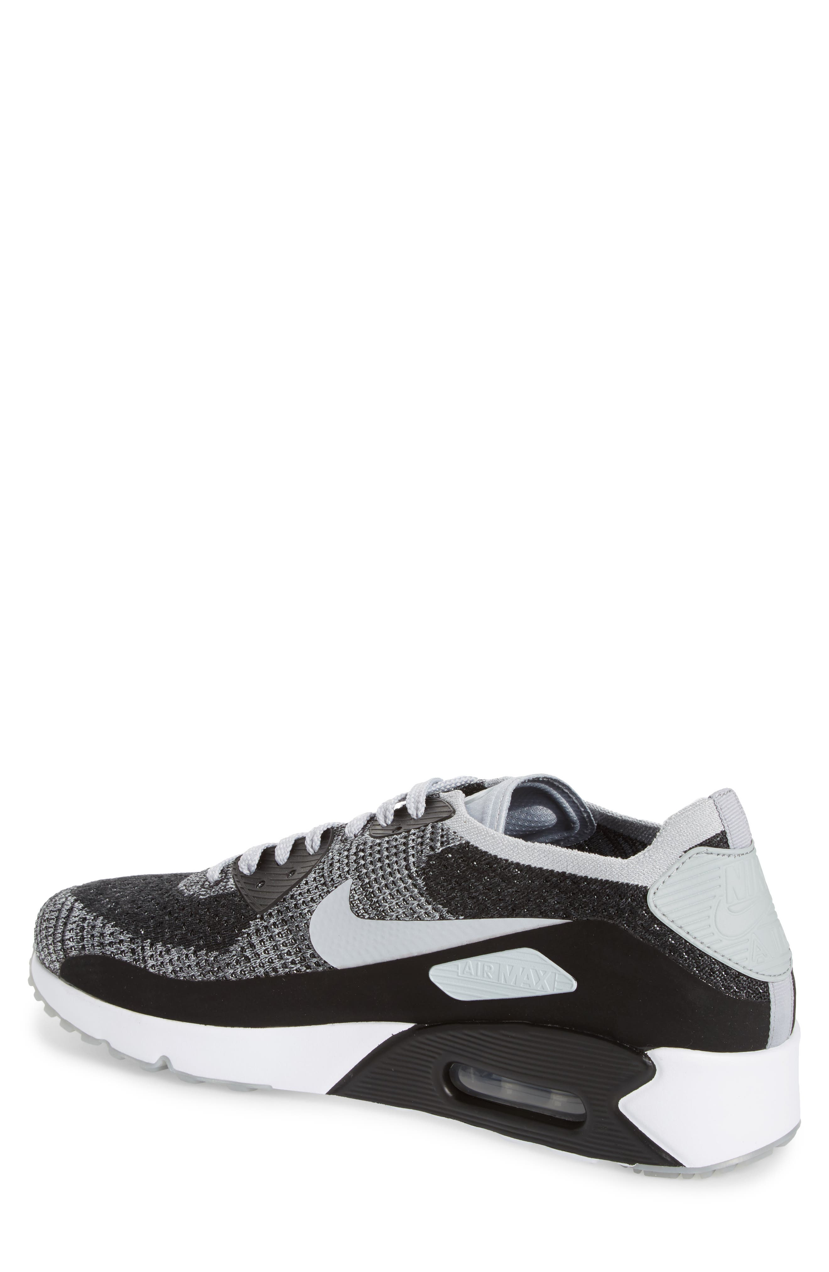 Air Max 90 Ultra 2.0 Flyknit Sneaker,                             Alternate thumbnail 2, color,                             005