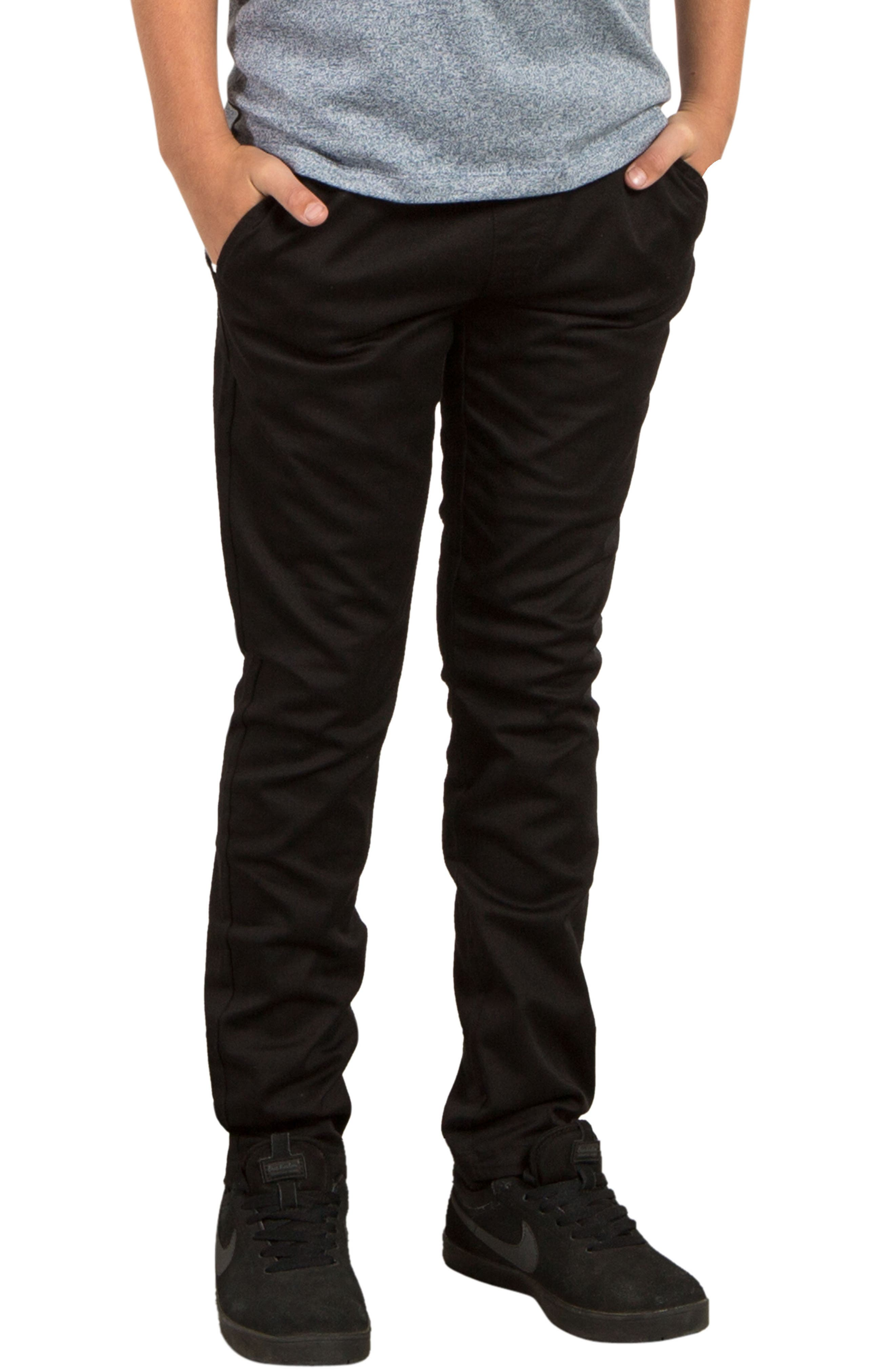 Slim Fit Stretch Chinos,                             Alternate thumbnail 4, color,                             001