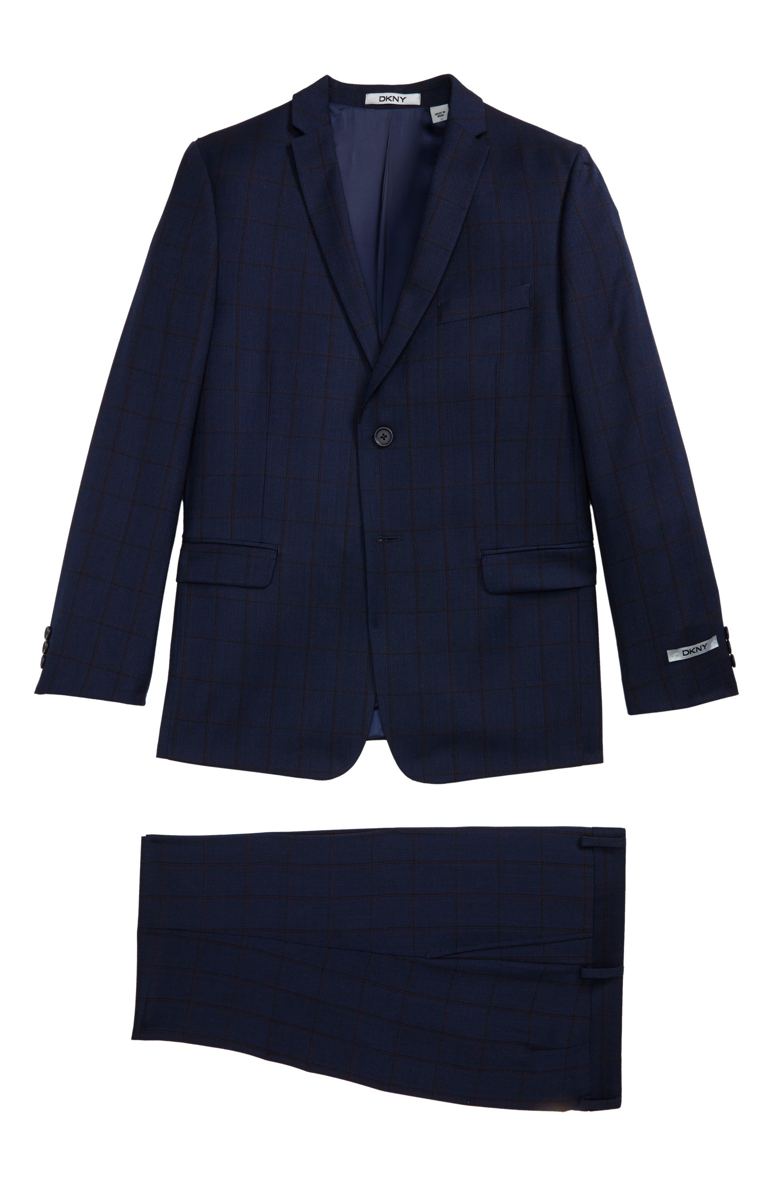 Windowpane Wool Suit,                         Main,                         color, 410