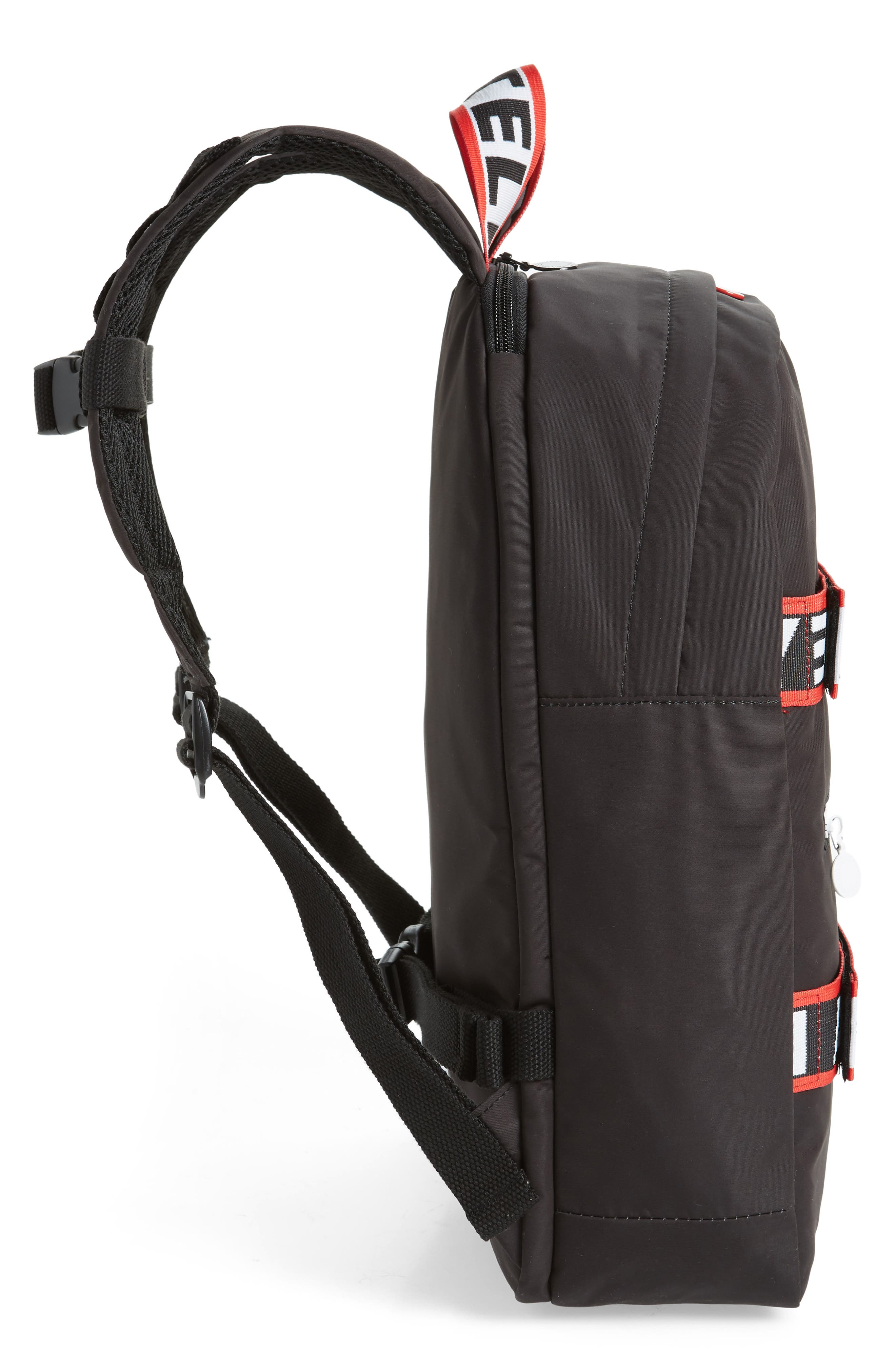 Stella Logo Backpack,                             Alternate thumbnail 4, color,                             BLACK