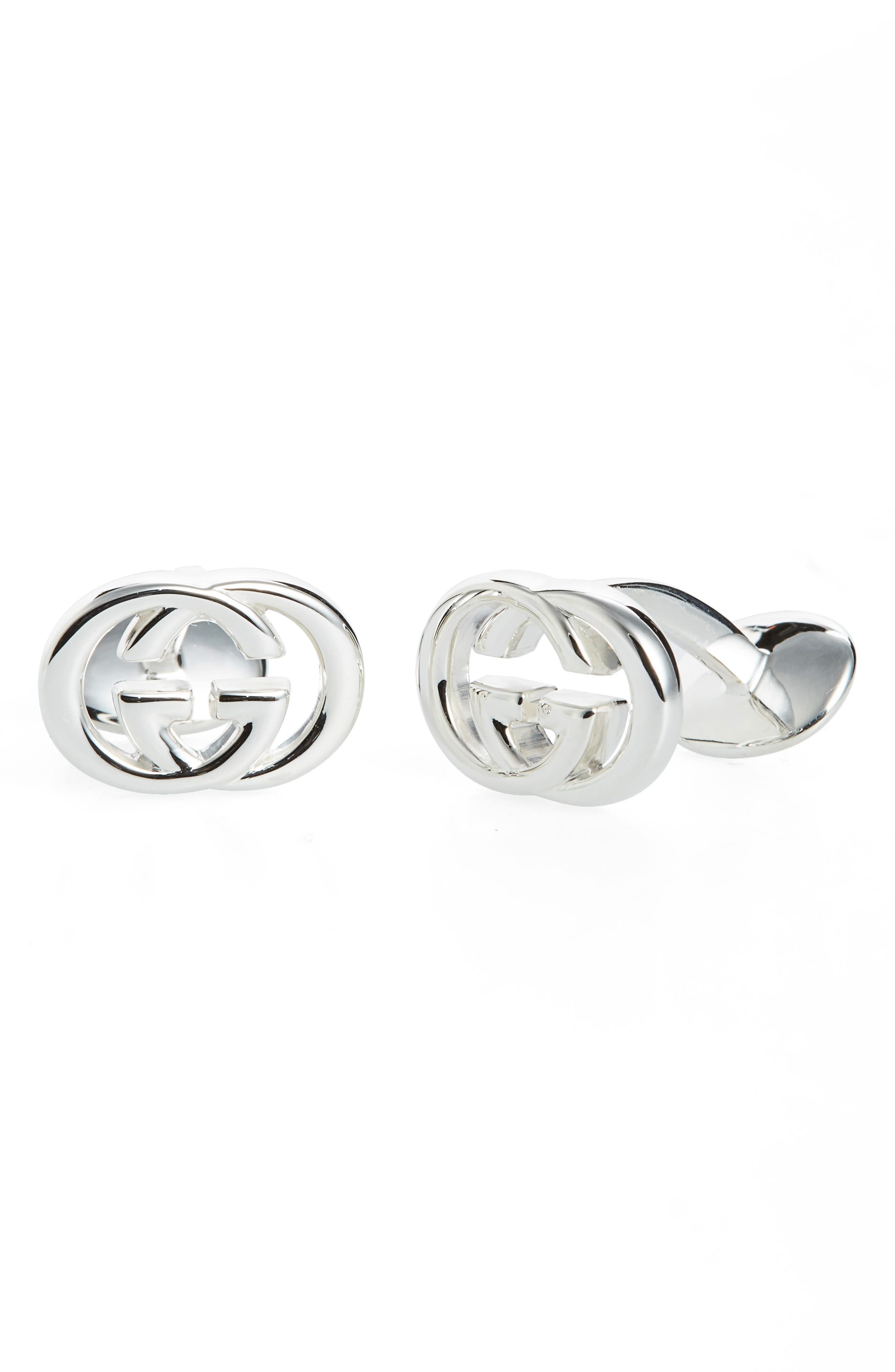 'Silver Britt' Cuff Links,                         Main,                         color, 040