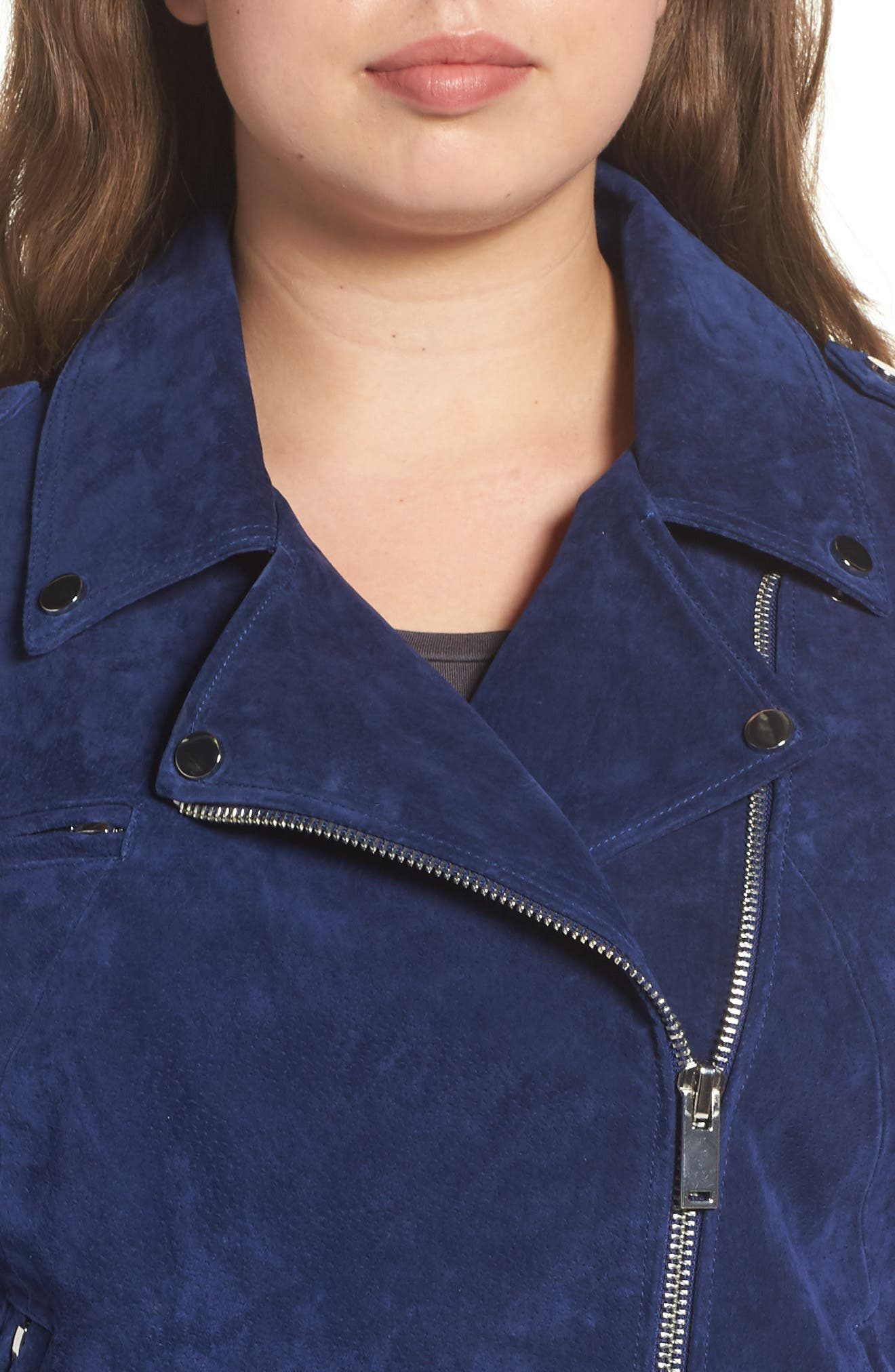 Suede Moto Jacket,                             Alternate thumbnail 12, color,