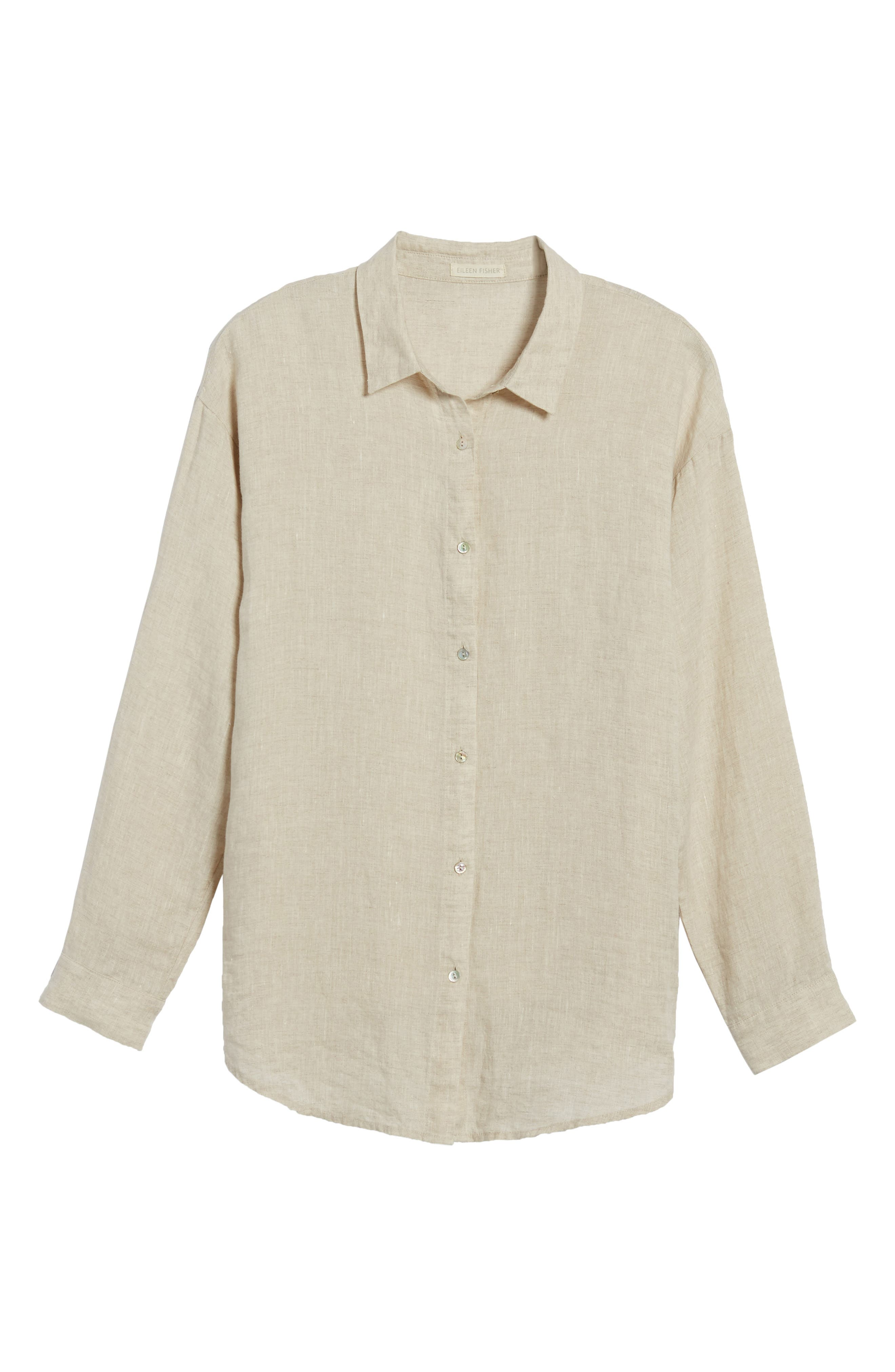 Organic Linen Shirt,                             Alternate thumbnail 7, color,                             257