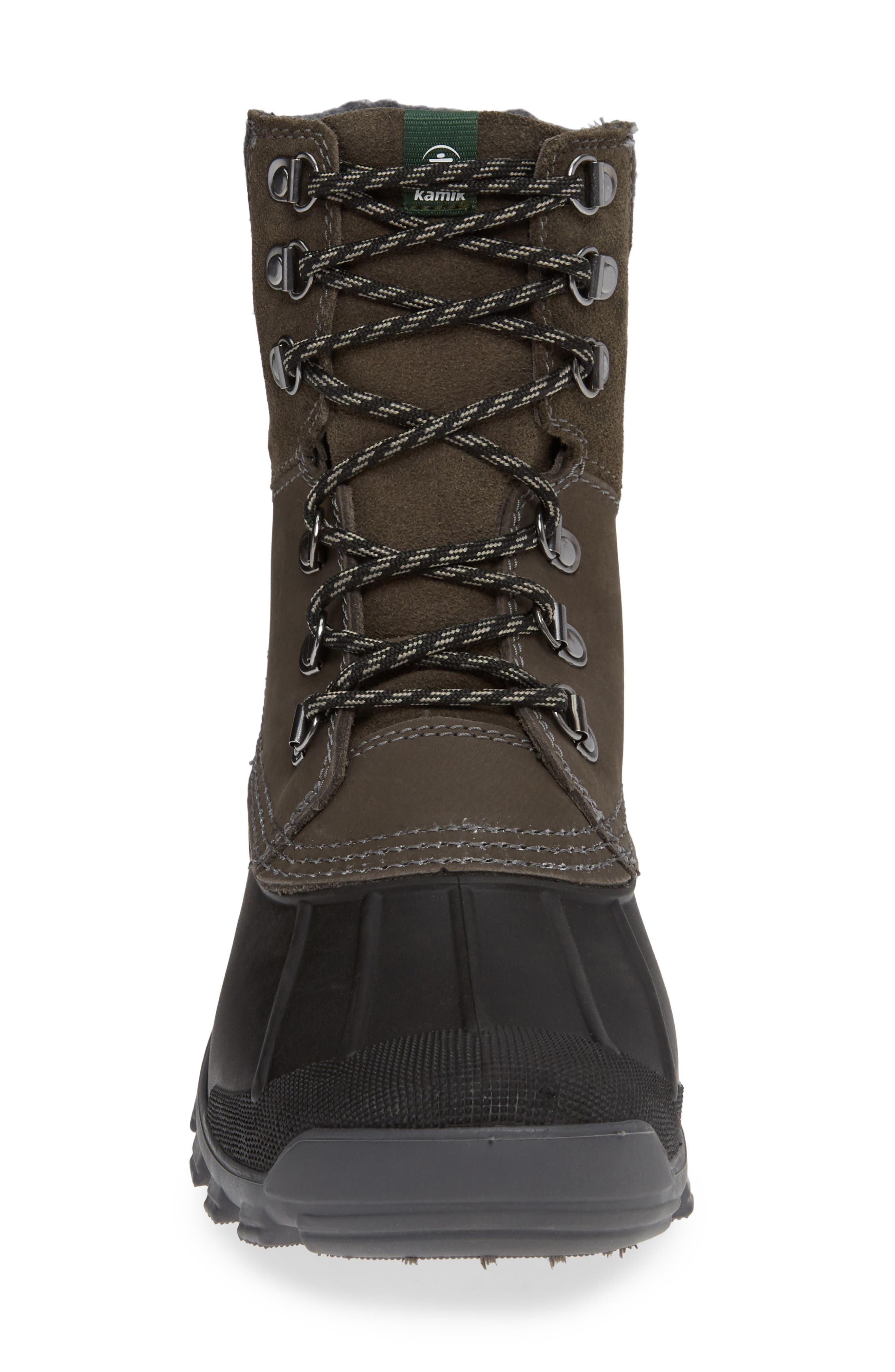 Hudson 5 Boot,                             Alternate thumbnail 4, color,                             CHARCOAL LEATHER