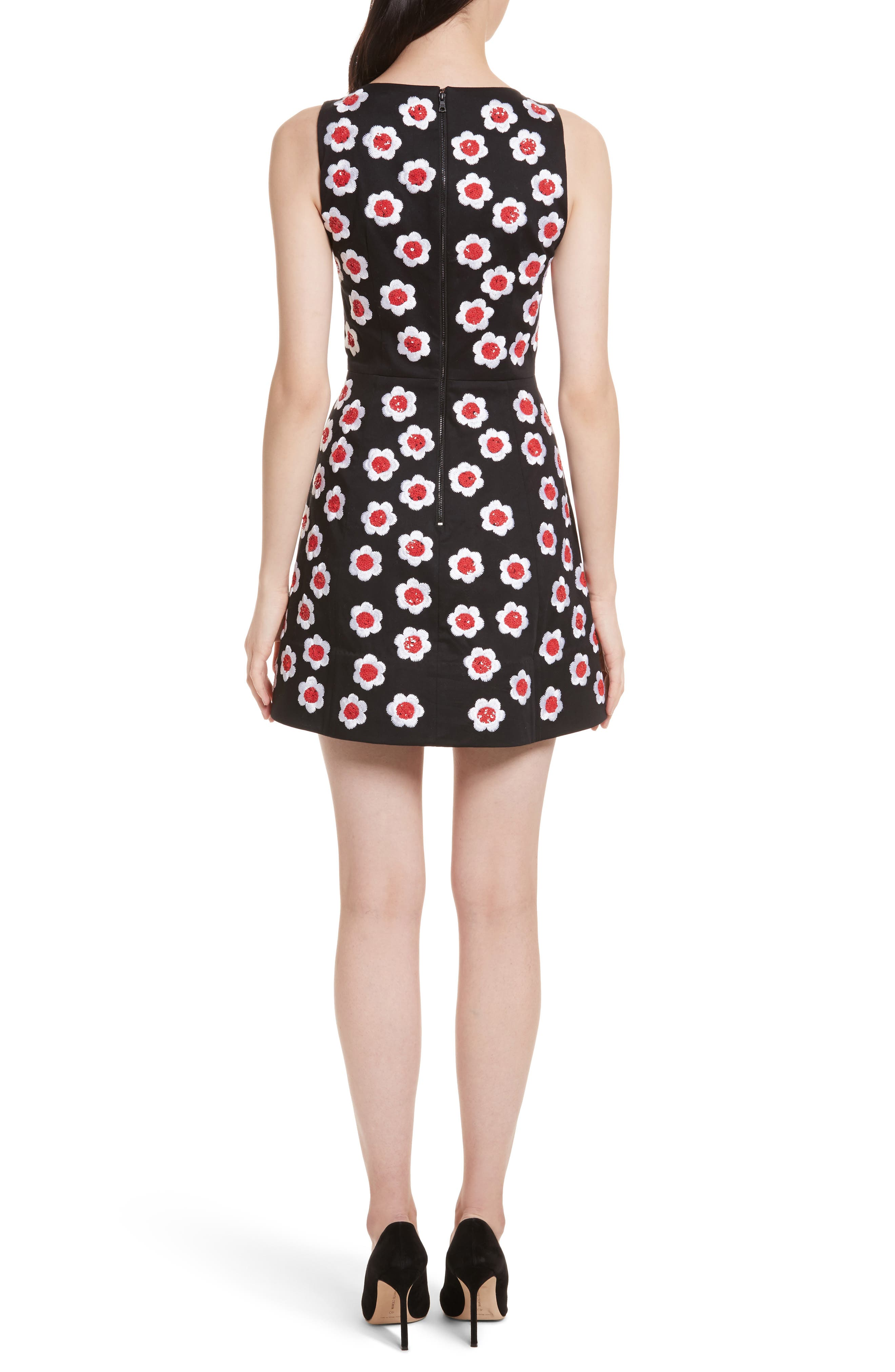 Lindsey Embroidered A-Line Dress,                             Alternate thumbnail 2, color,                             019