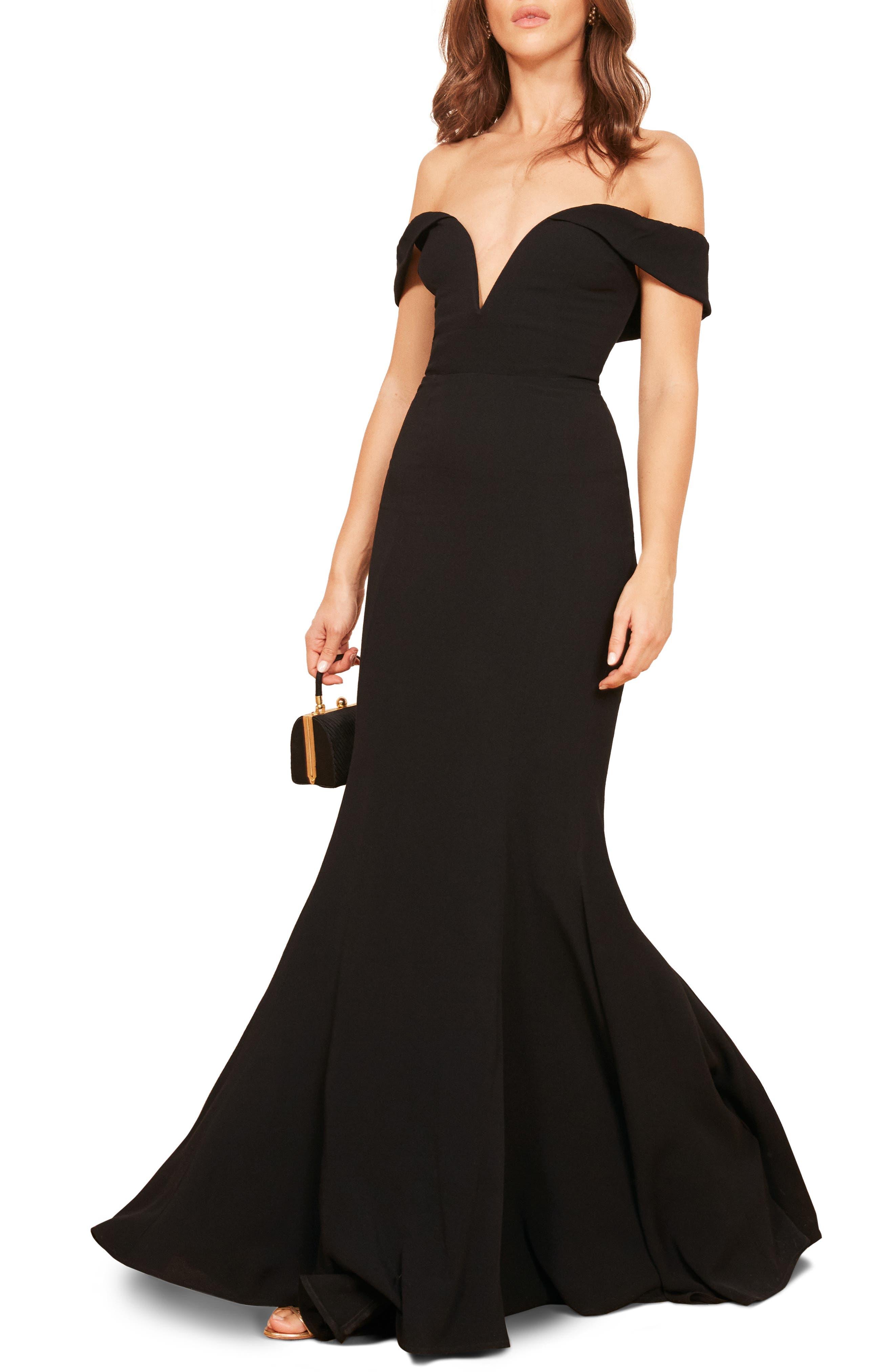 Bali Gown,                         Main,                         color, BLACK