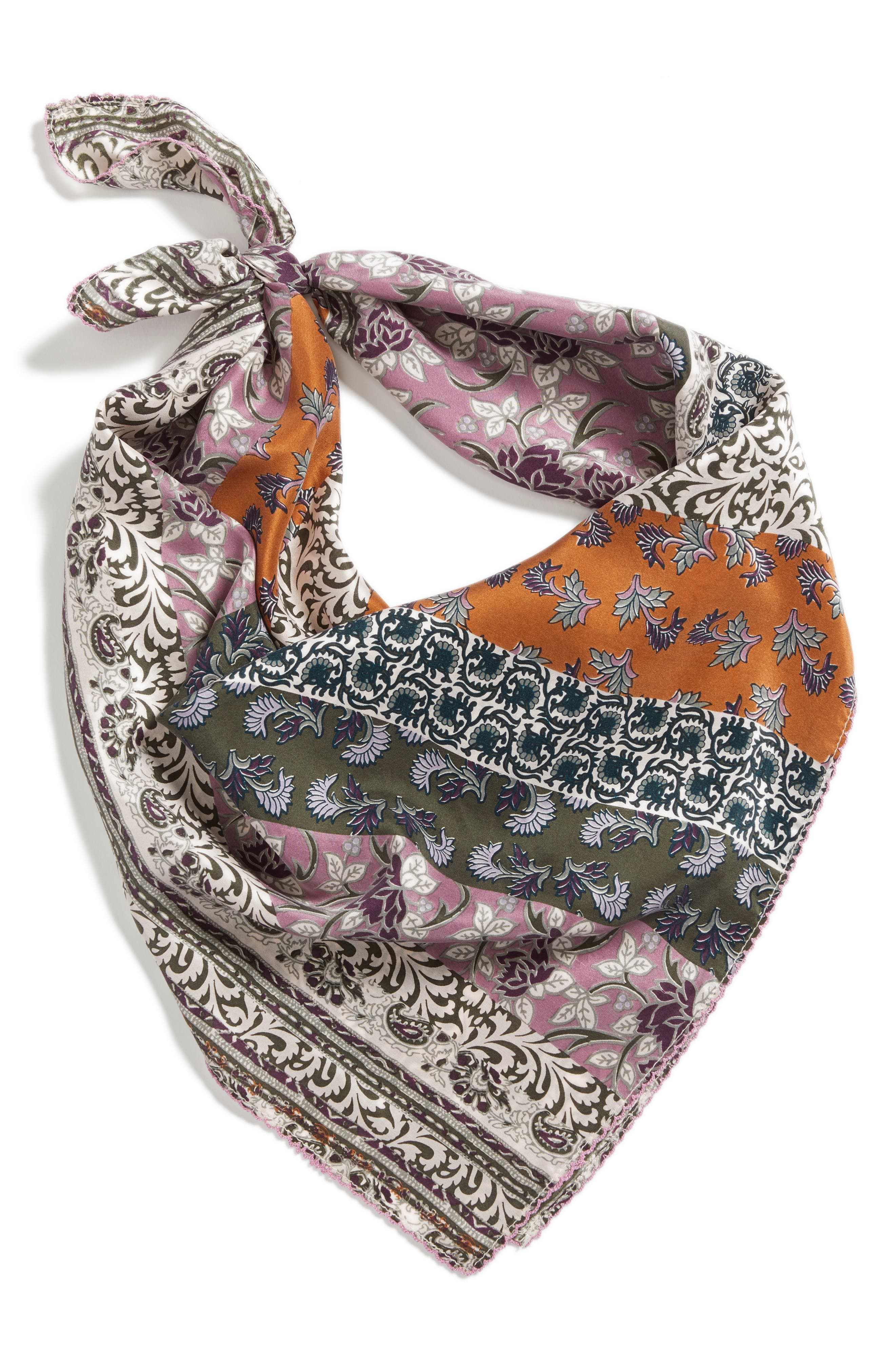 Bloomsbury Square Silk Scarf,                             Alternate thumbnail 2, color,                             315