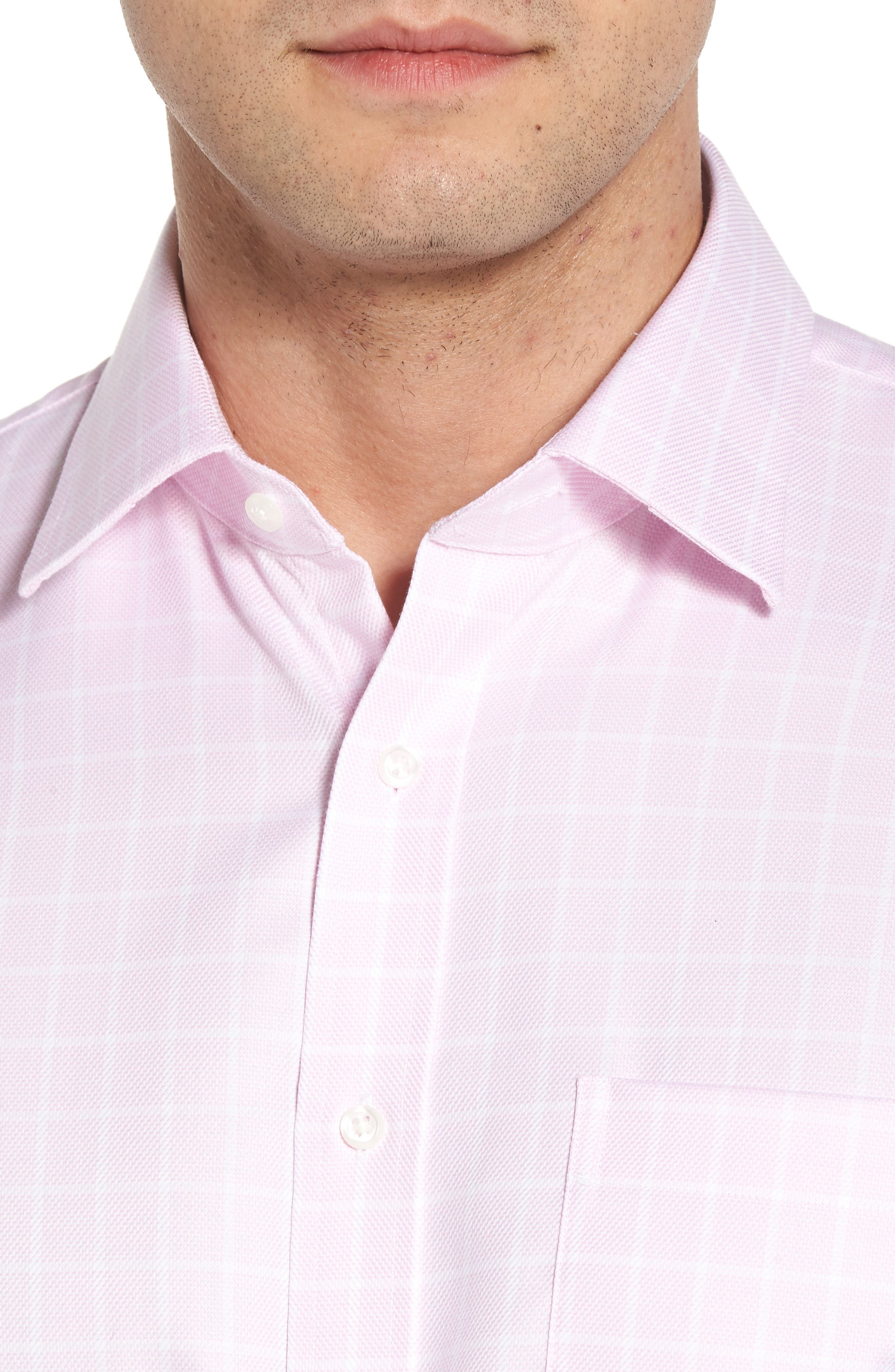Traditional Fit Non-Iron Check Dress Shirt,                             Alternate thumbnail 6, color,