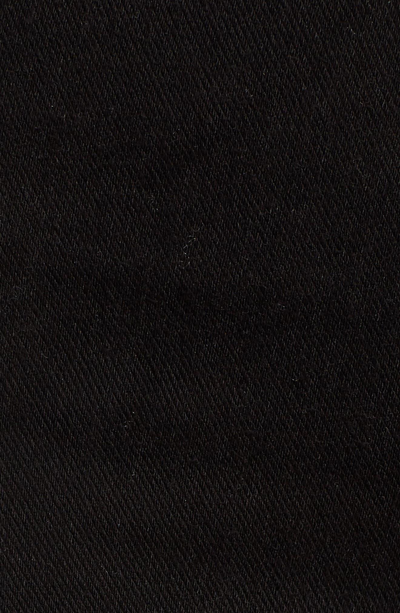 Step Hem Denim Leggings,                             Alternate thumbnail 6, color,                             BLACK