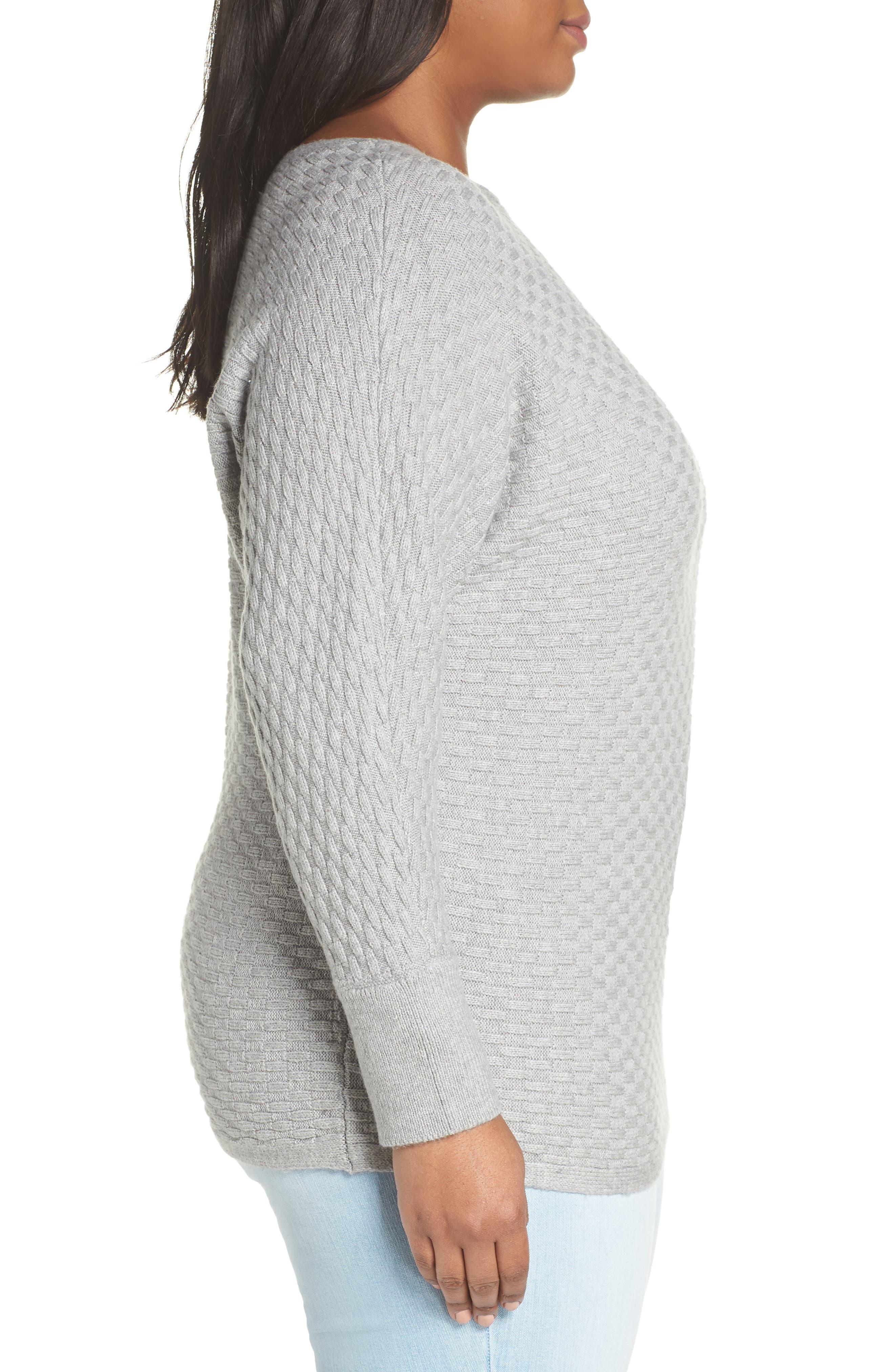 Boatneck Sweater,                             Alternate thumbnail 3, color,                             LIGHT HEATHER GREY