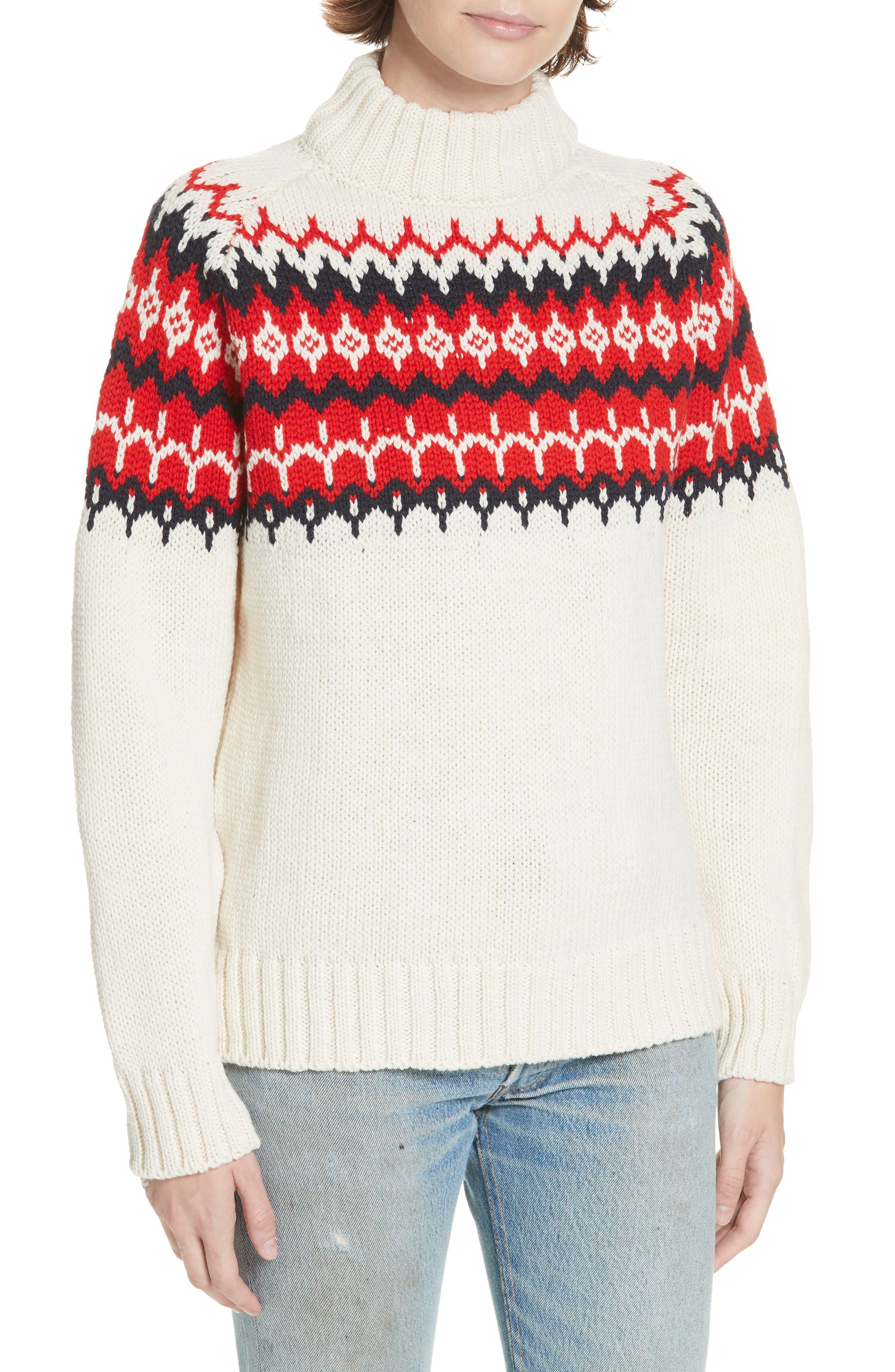 & daughter Bansha Fair Isle Merino Wool Sweater, Ivory