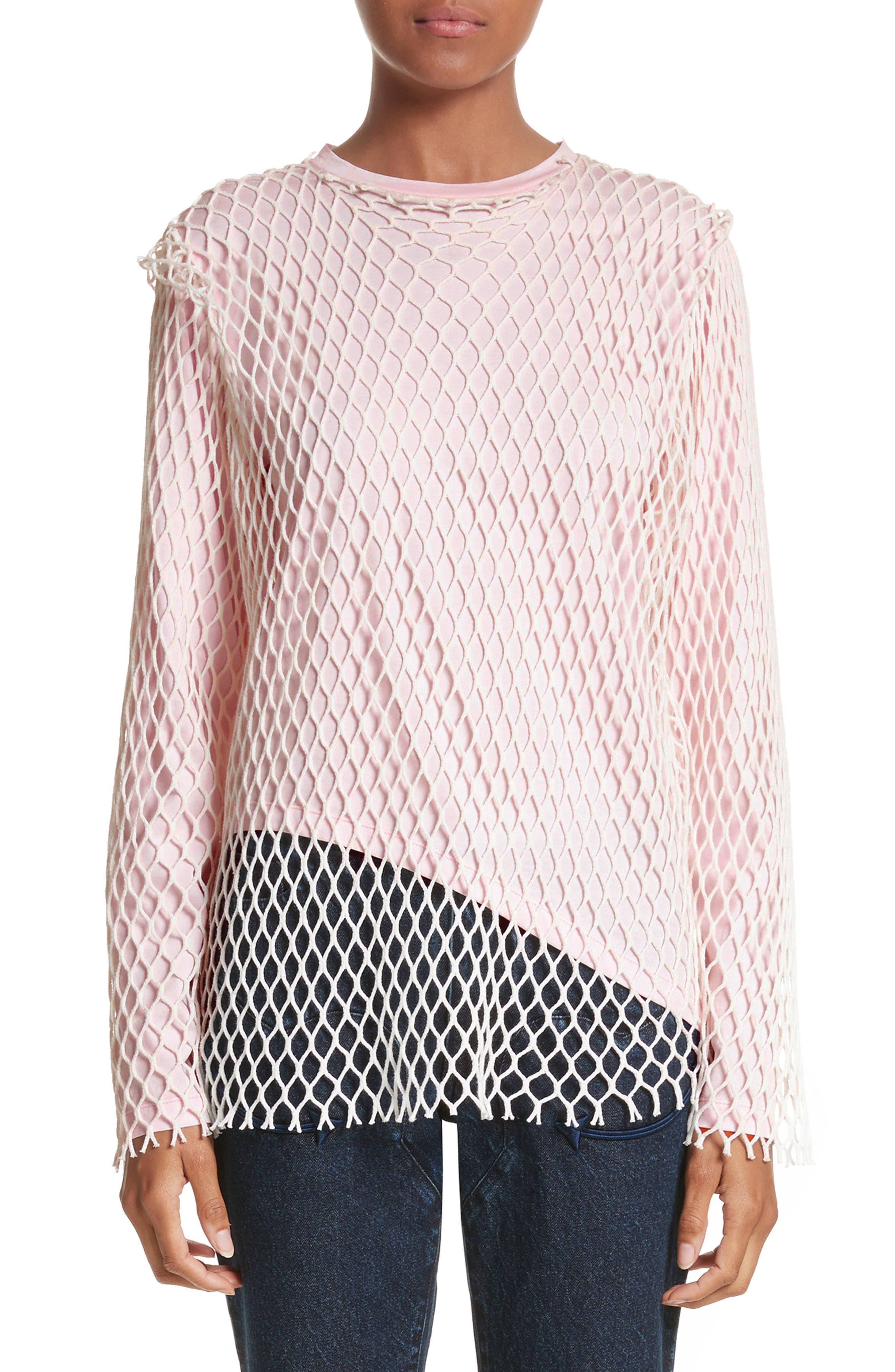 Marques'Almeida Net Jersey Top,                         Main,                         color, 650