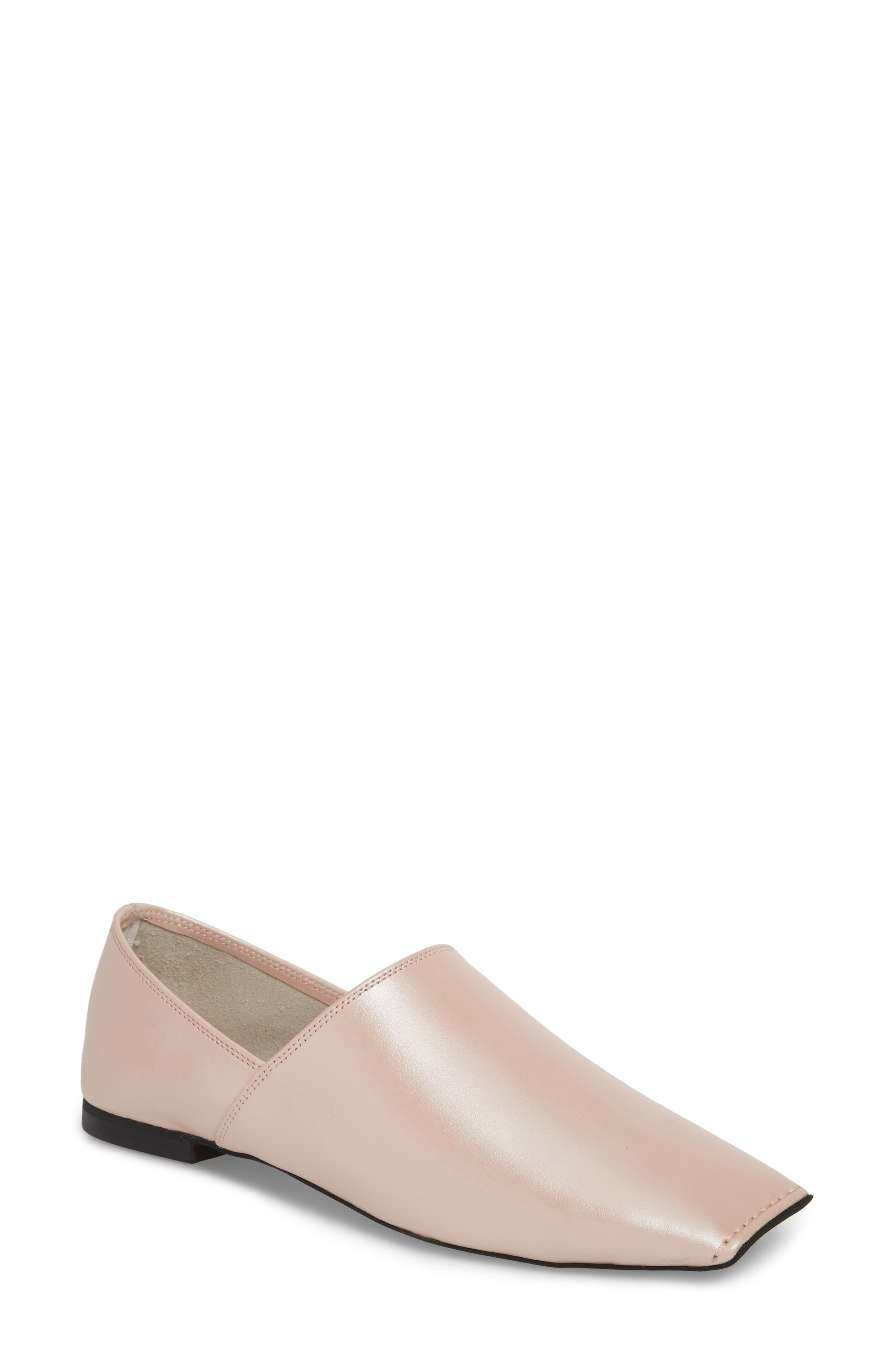 Lanvale Blunted Toe Flat,                             Main thumbnail 1, color,                             PINK LUSTER
