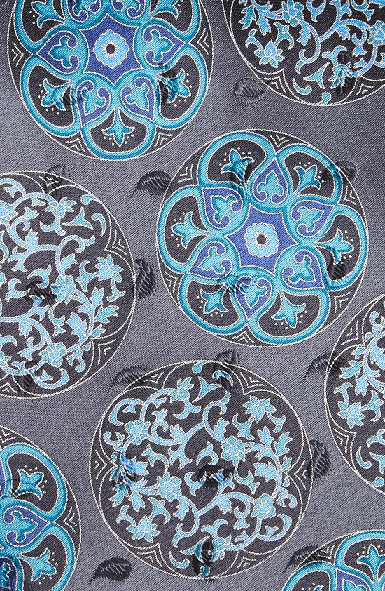 Medallion Silk Tie,                             Alternate thumbnail 2, color,                             038