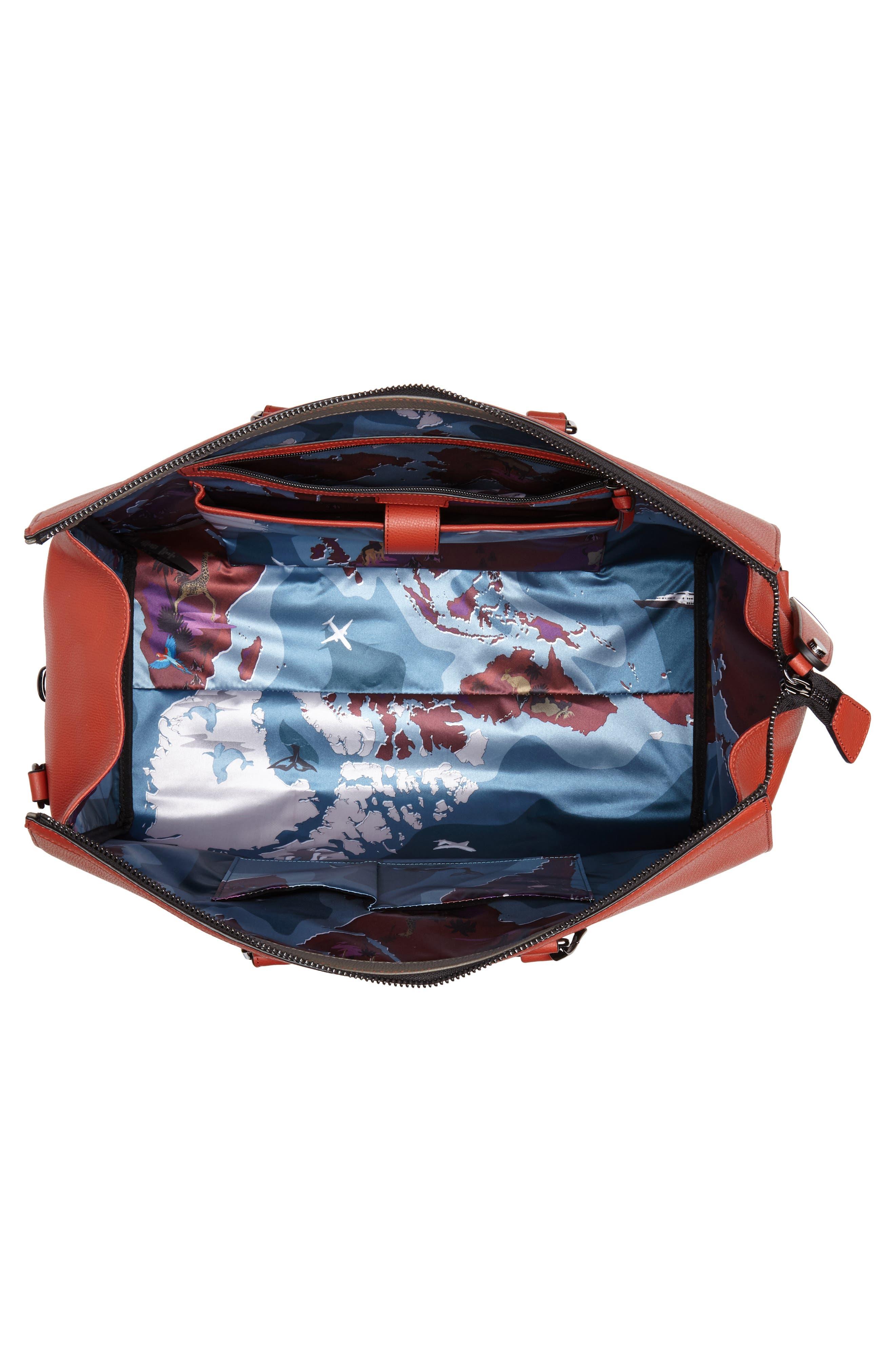 Leather Duffel Bag,                             Alternate thumbnail 12, color,