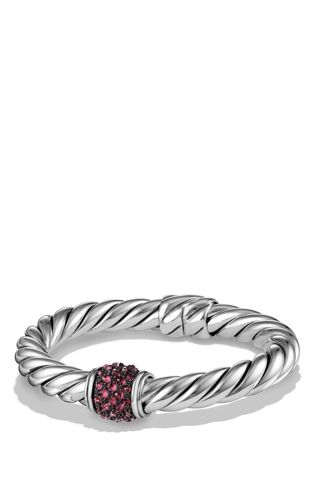 Cable Berries Hinge Bracelet,                             Main thumbnail 1, color,                             SILVER