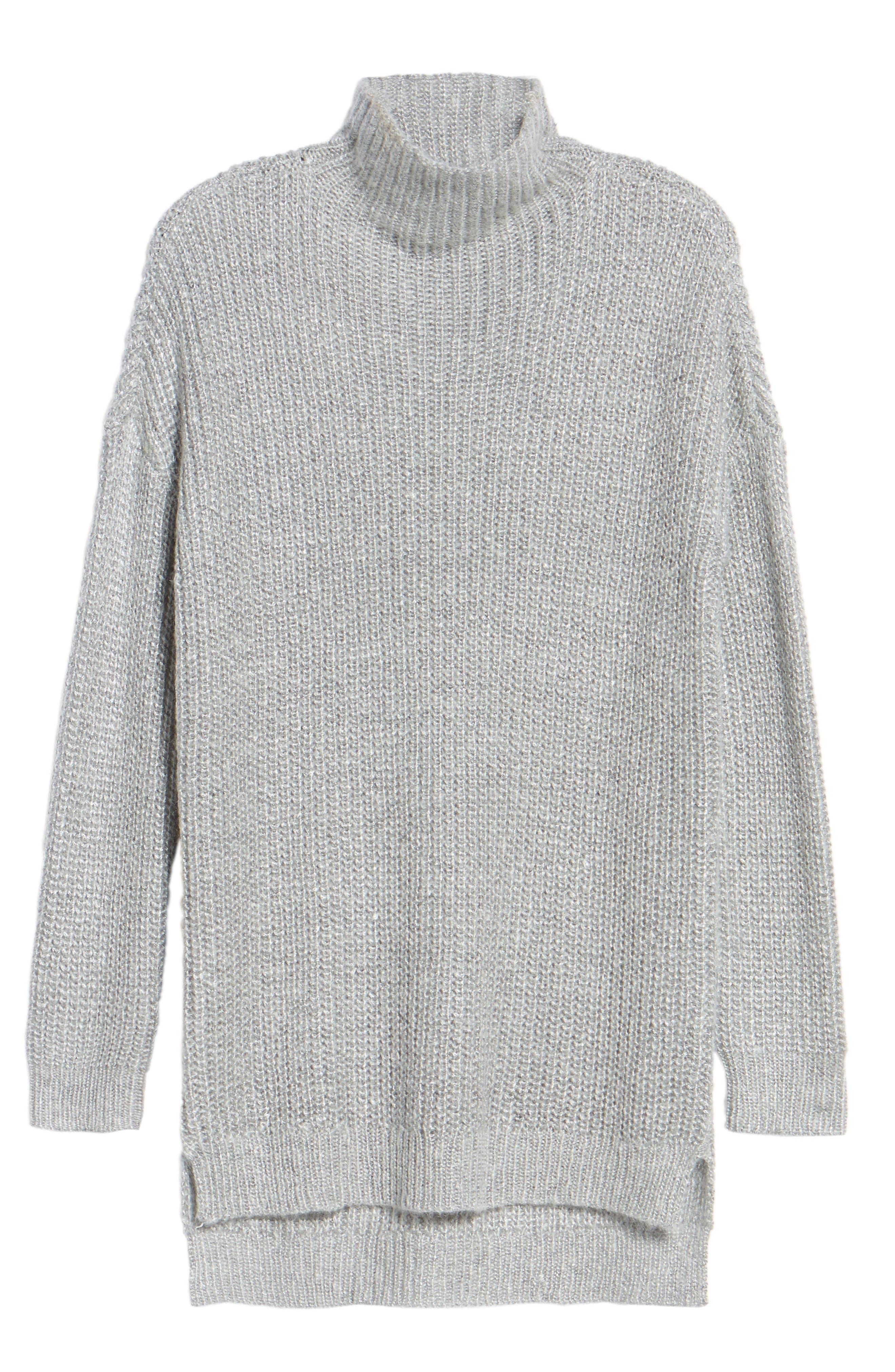 Rib Knit Sweater,                             Alternate thumbnail 6, color,                             030