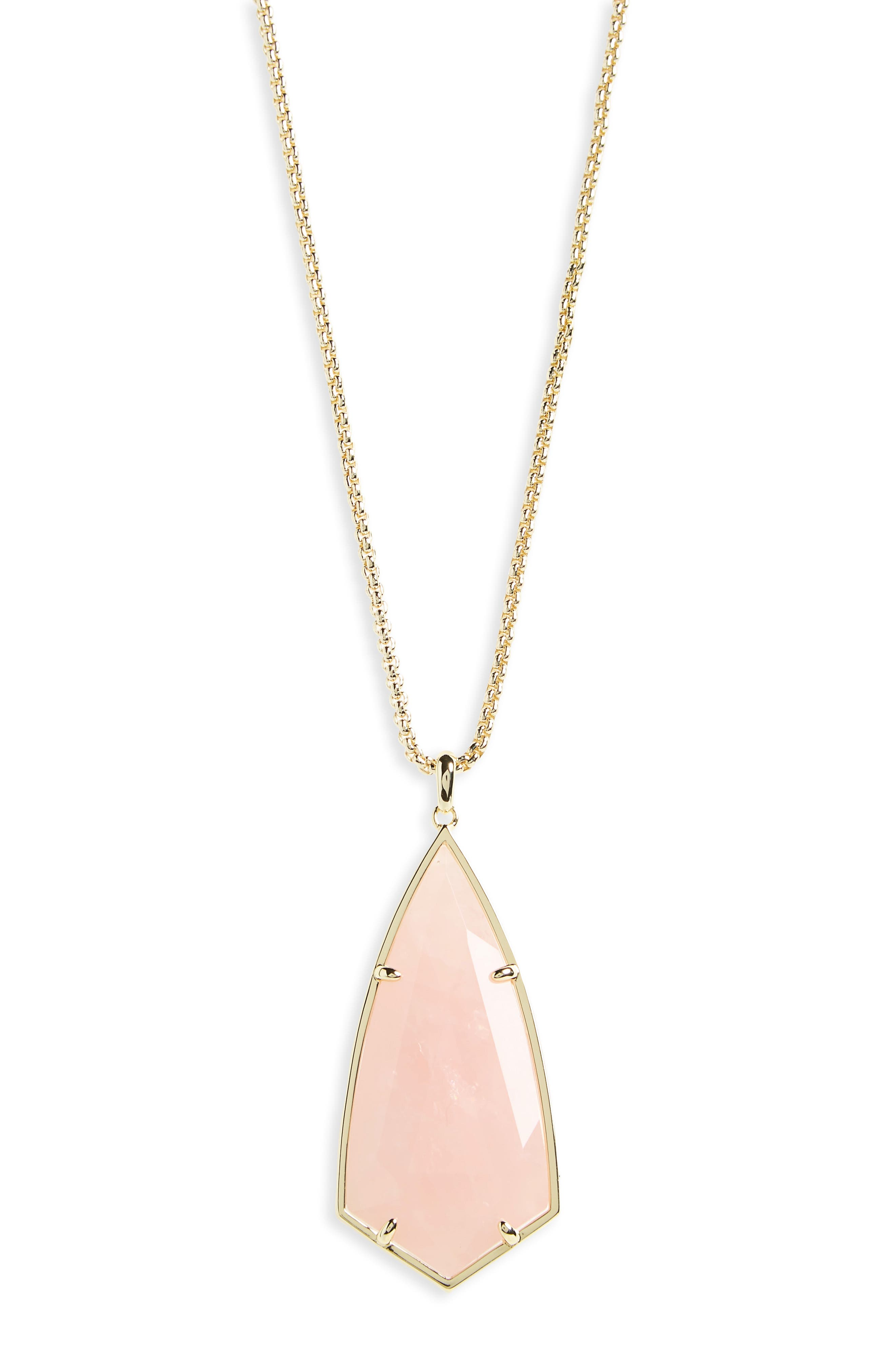 'Carole' Long Semiprecious Stone Pendant Necklace,                             Alternate thumbnail 15, color,