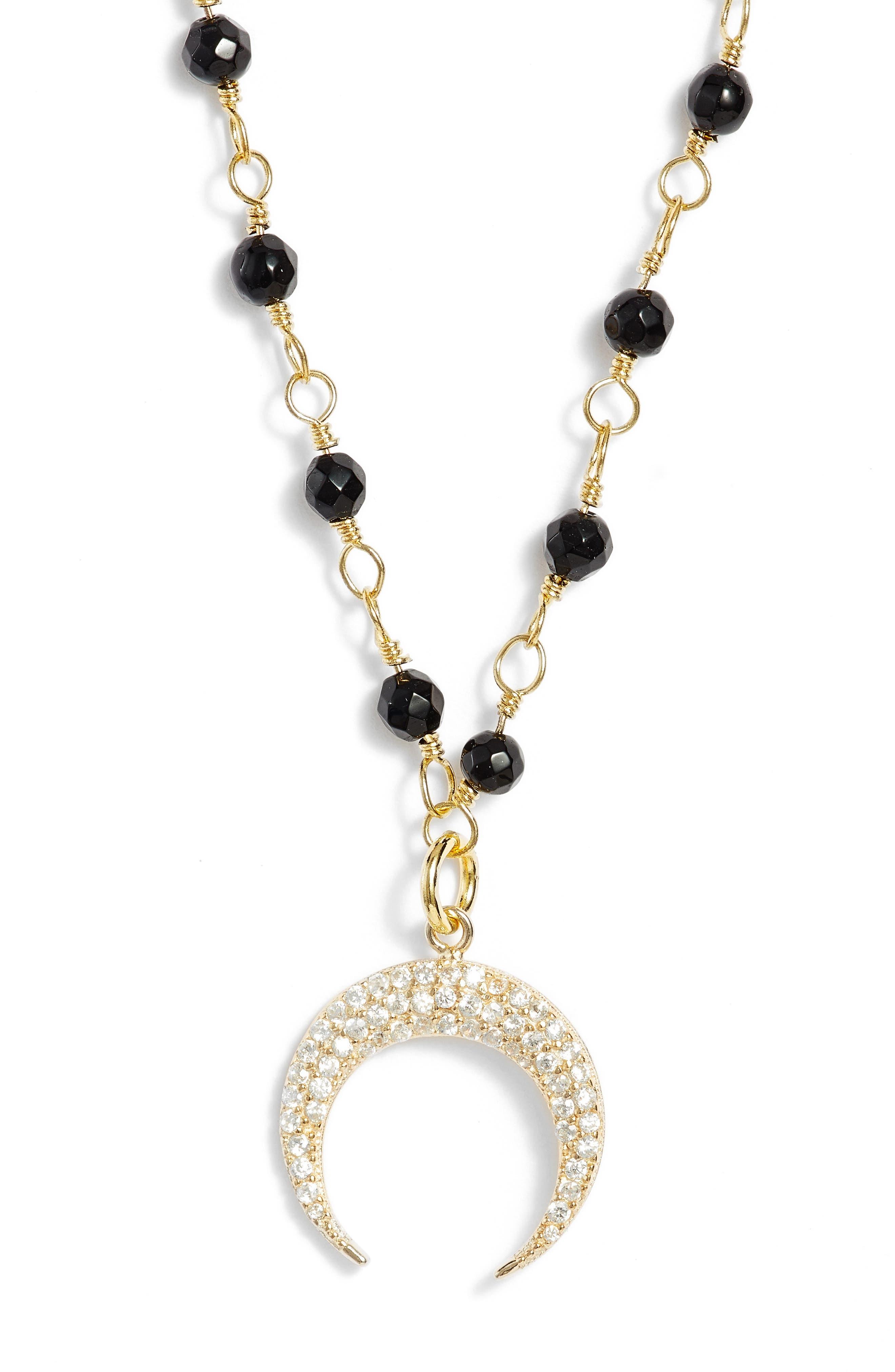 Cellini Pendant Necklace,                             Alternate thumbnail 3, color,                             001