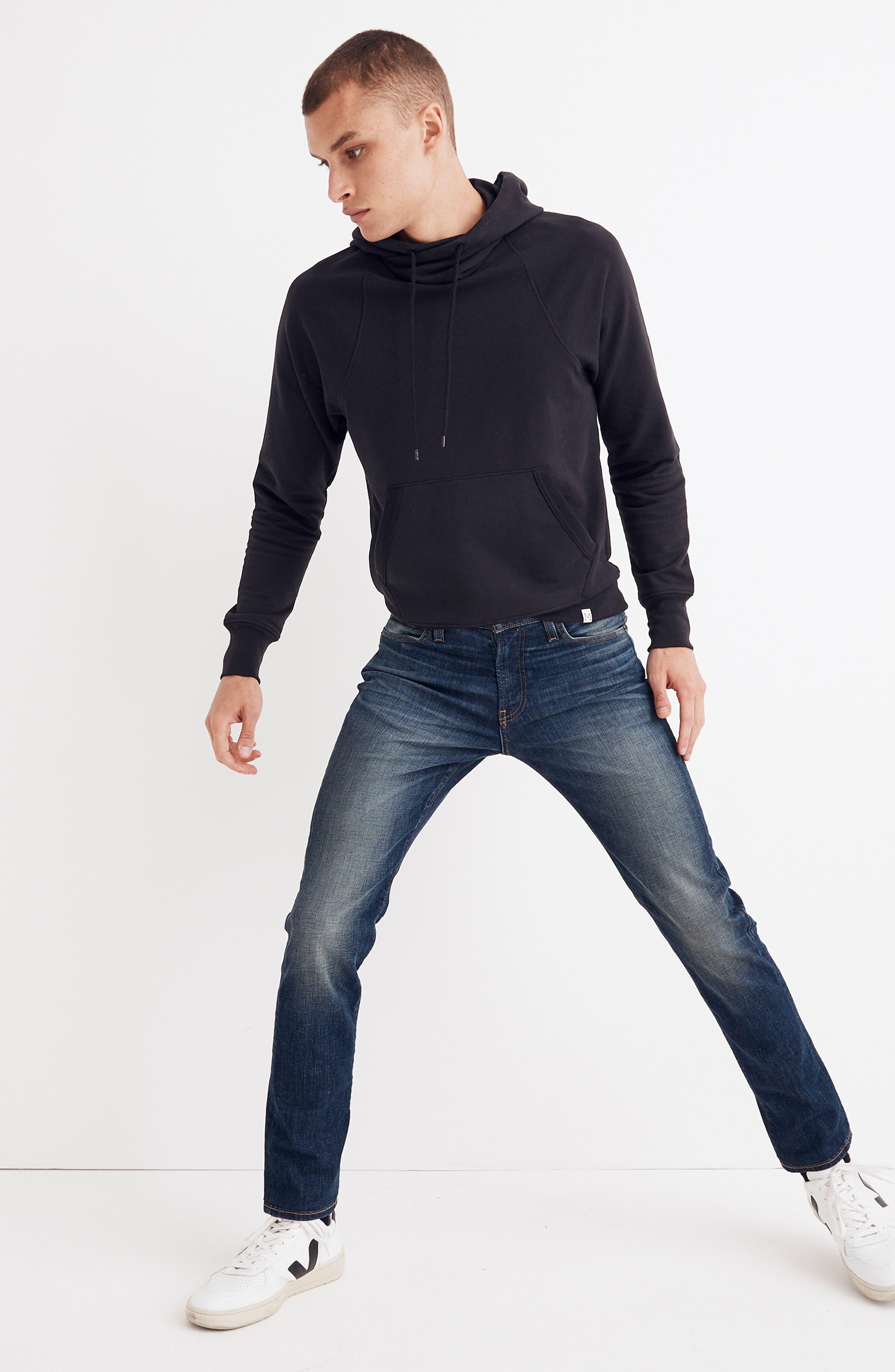 Slim Fit Jeans,                             Alternate thumbnail 4, color,                             DARK TINTED