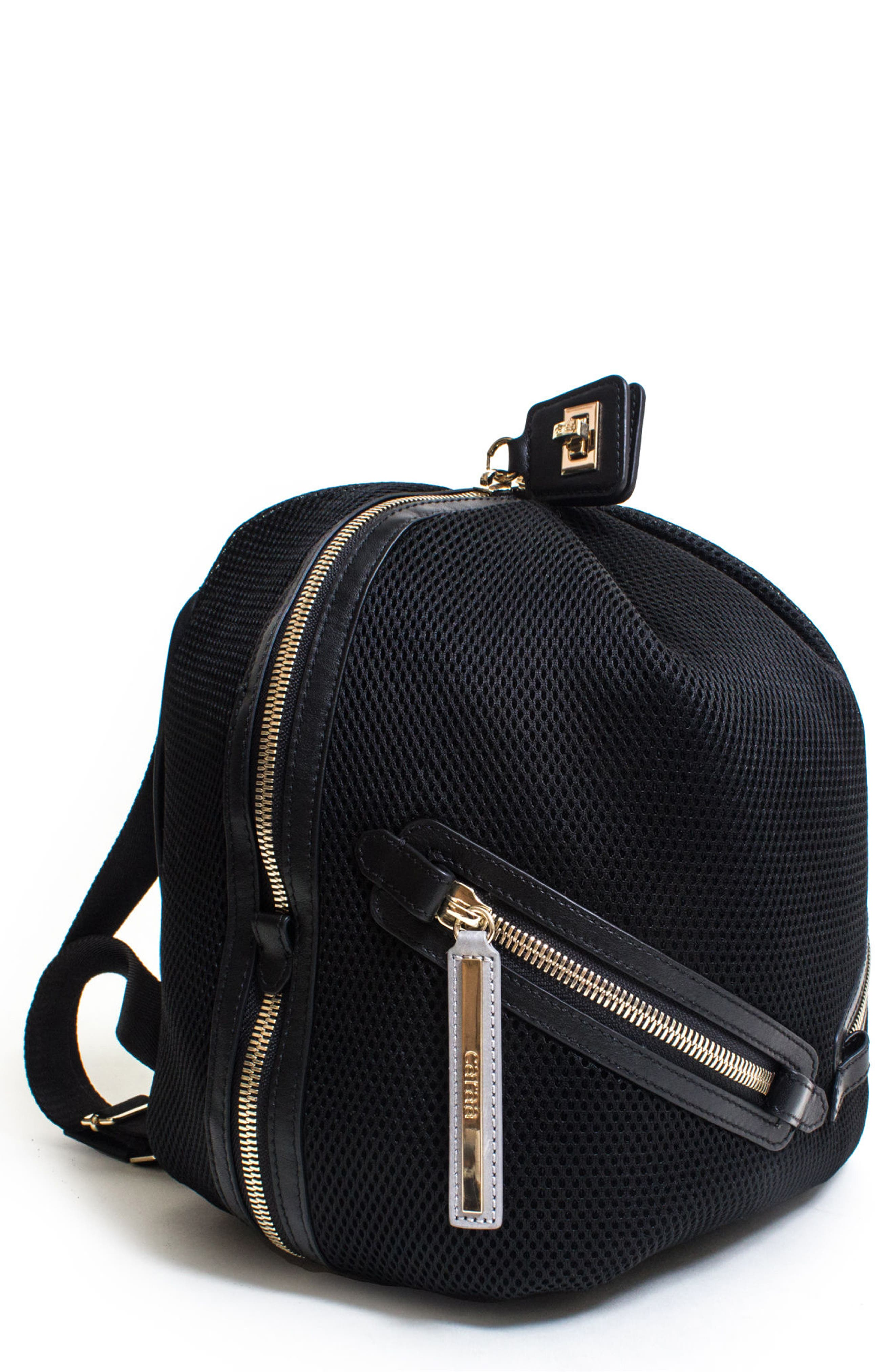 Dance 2 Mesh with Leather Trim Backpack,                         Main,                         color, 001