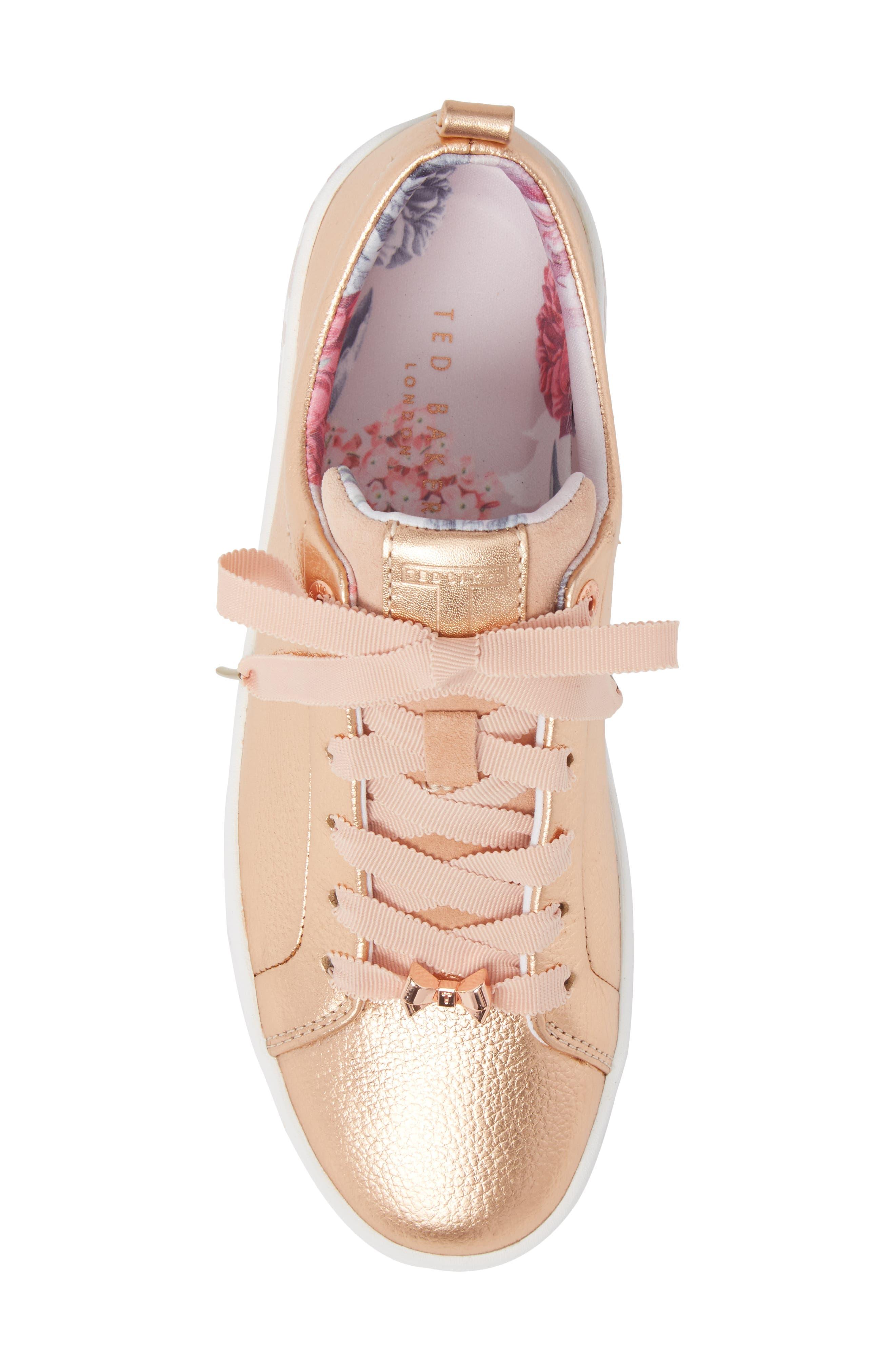 Kelleip Sneaker,                             Alternate thumbnail 5, color,                             ROSE GOLD/ PALACE GARDENS