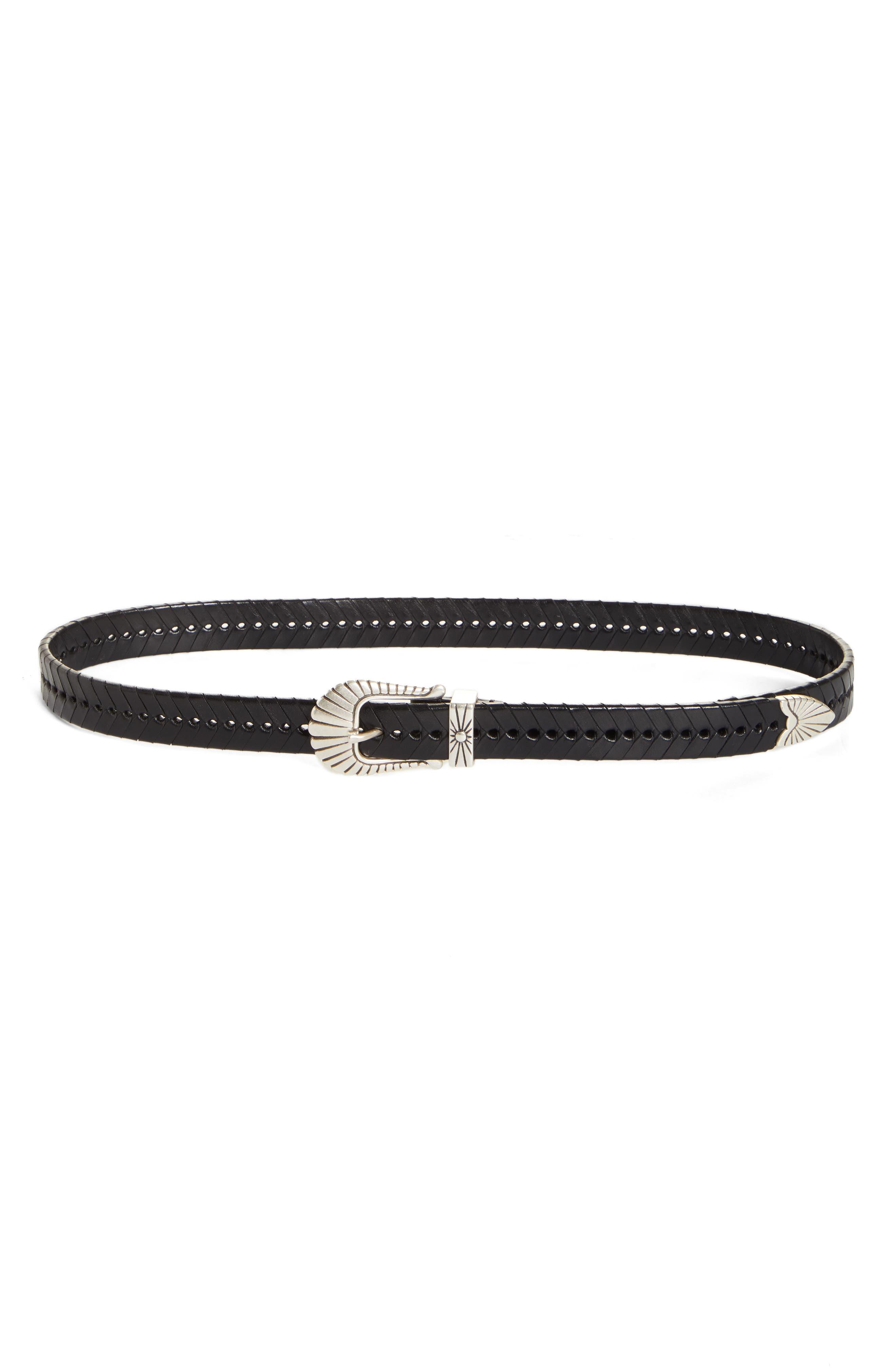 Isabel Marant Braided Leather Belt, Black
