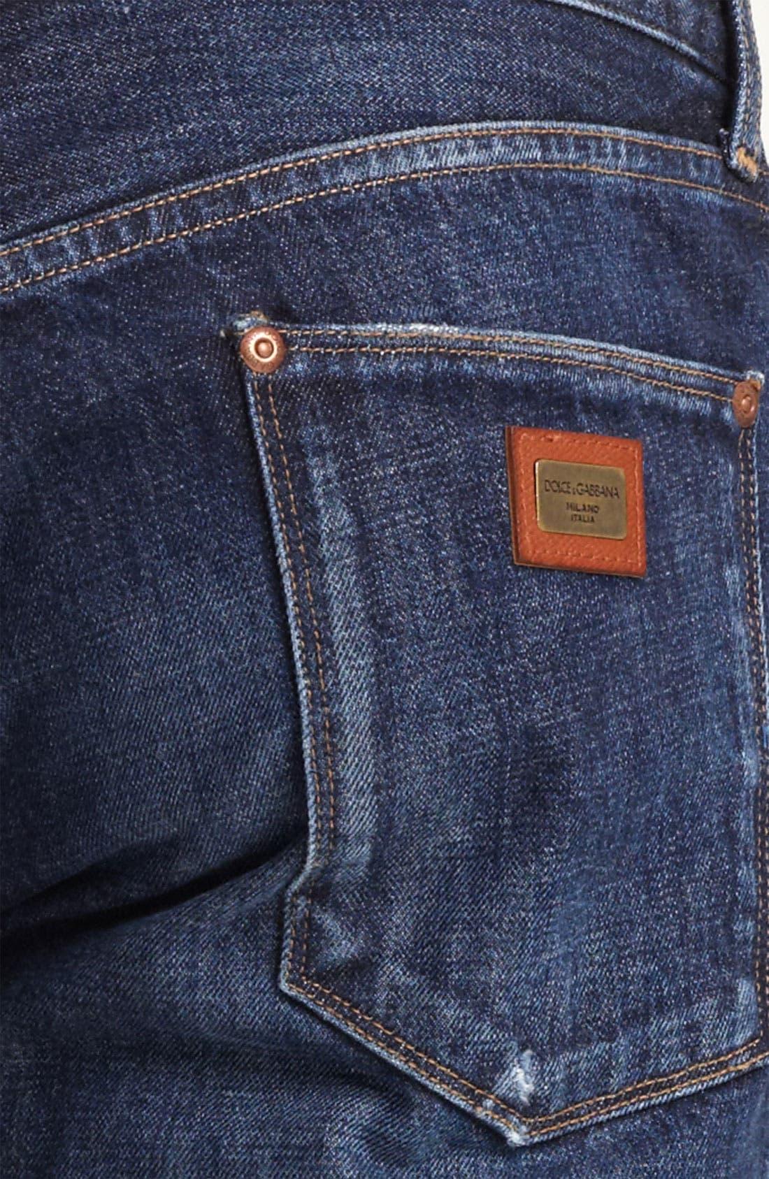 Slim Straight Leg Jeans,                             Alternate thumbnail 4, color,                             401