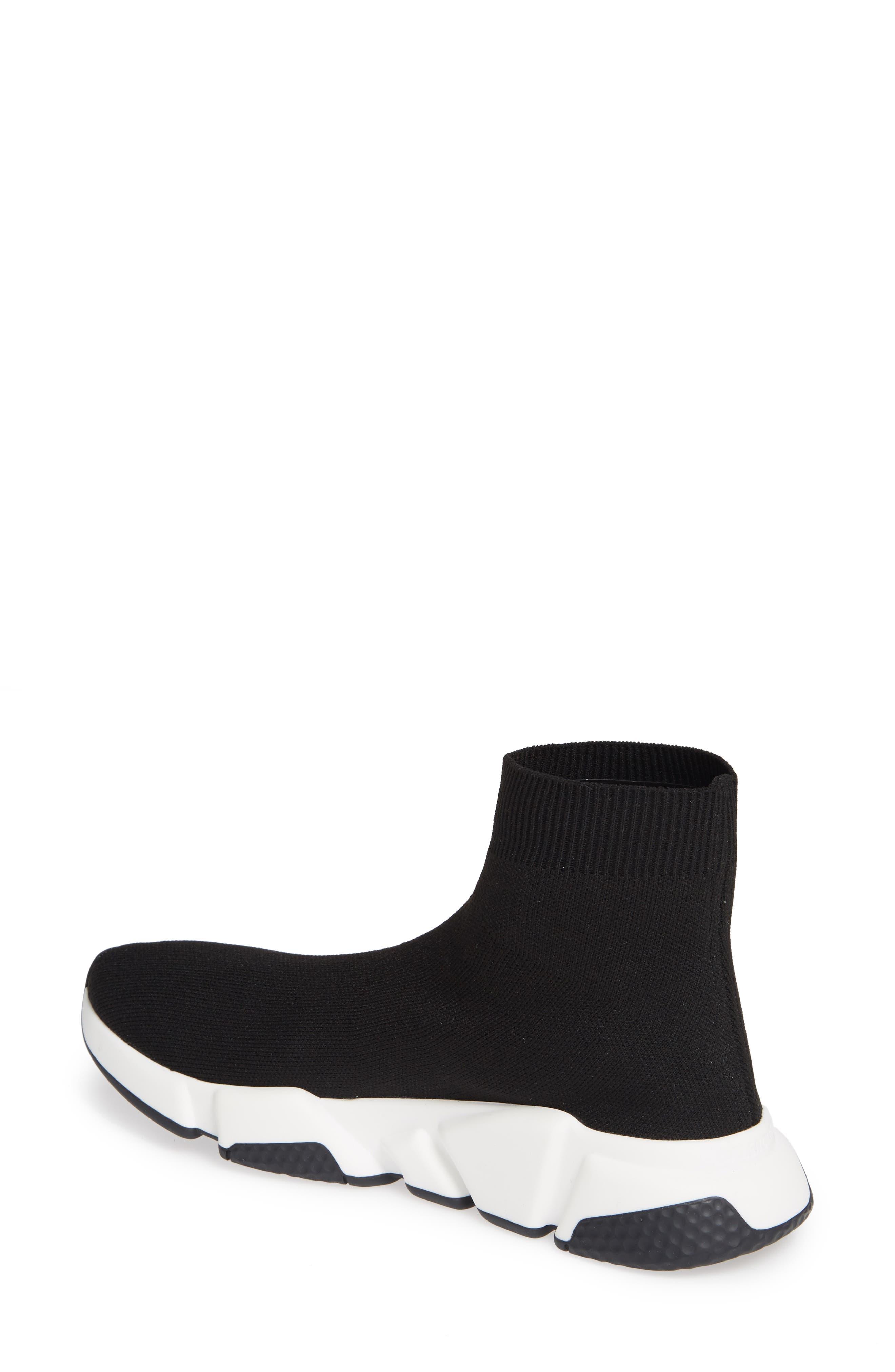 Speed Knit Sneaker,                             Alternate thumbnail 2, color,                             BLACK