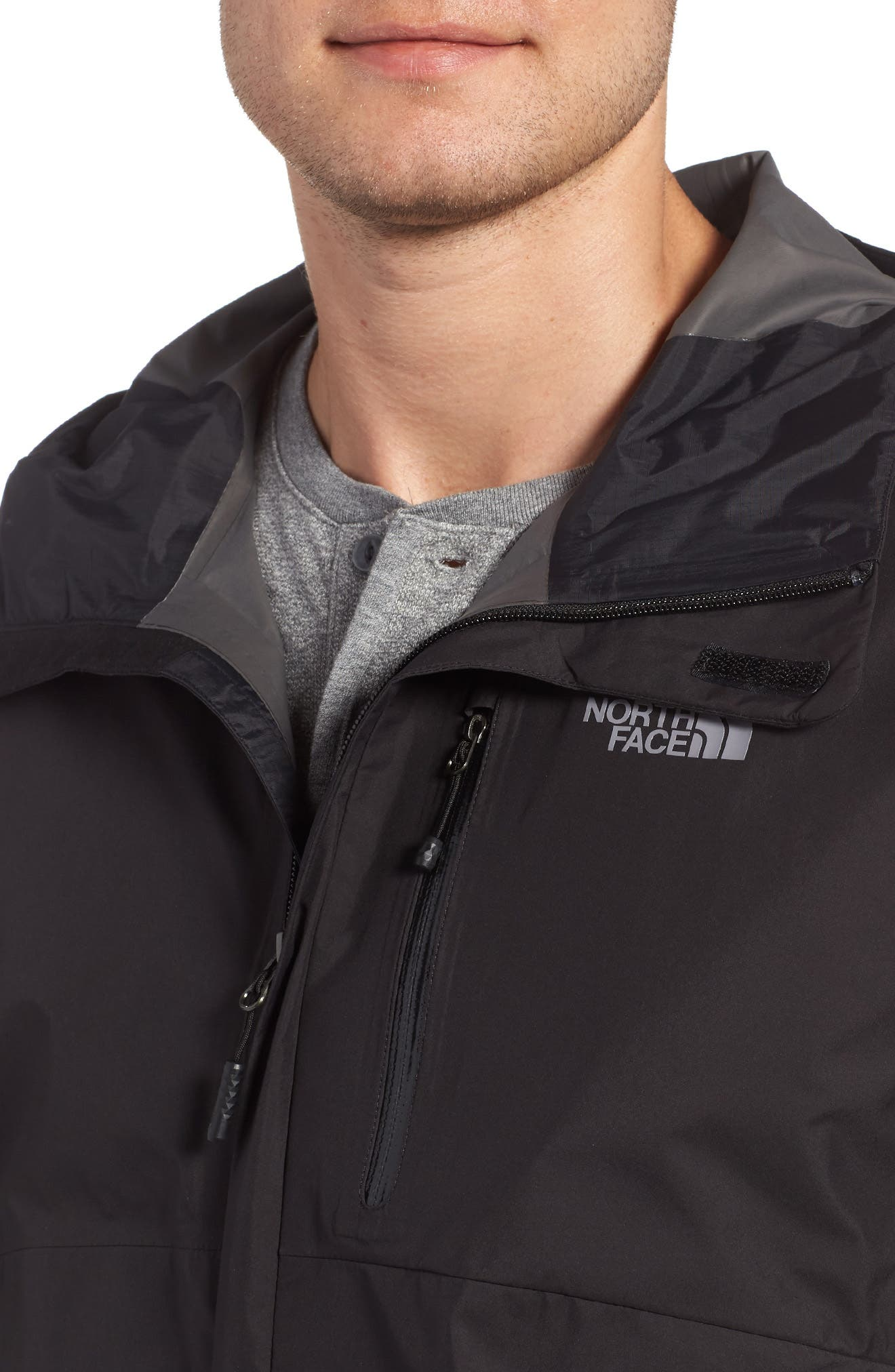 Dryzzle Gore-Tex<sup>®</sup> PacLite Hooded Jacket,                             Alternate thumbnail 4, color,                             001