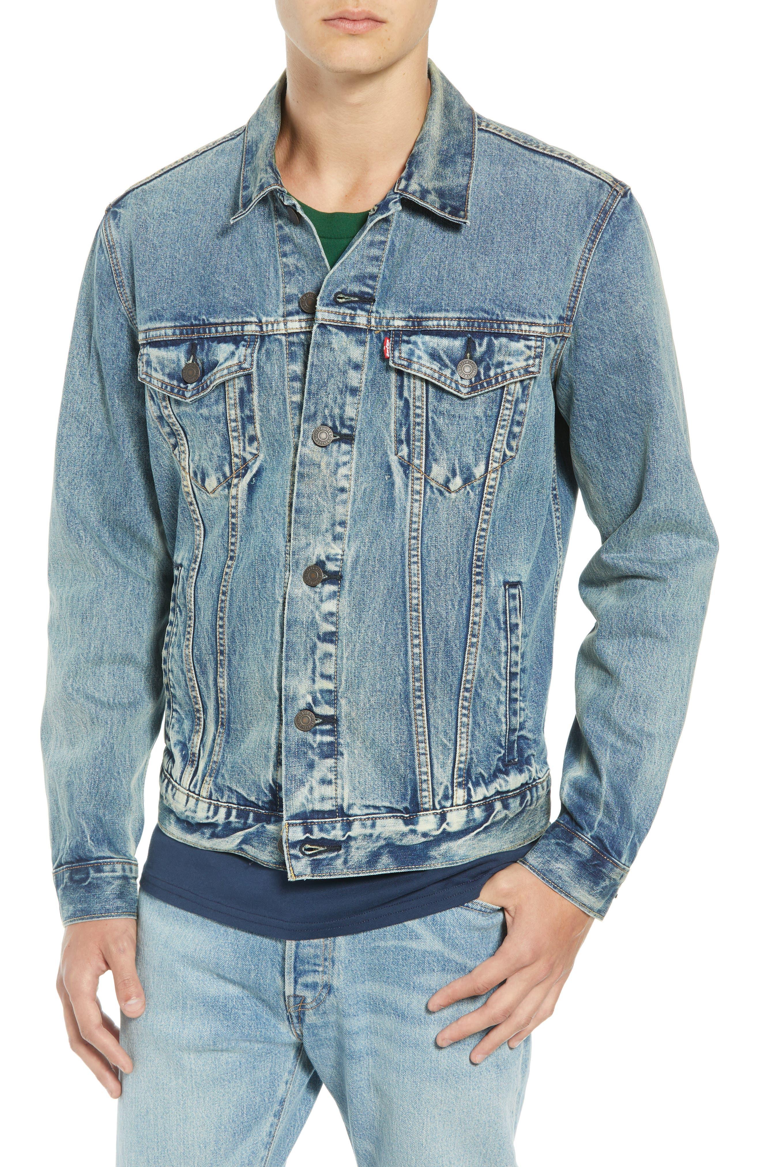 The Trucker Denim Jacket,                             Alternate thumbnail 4, color,                             420