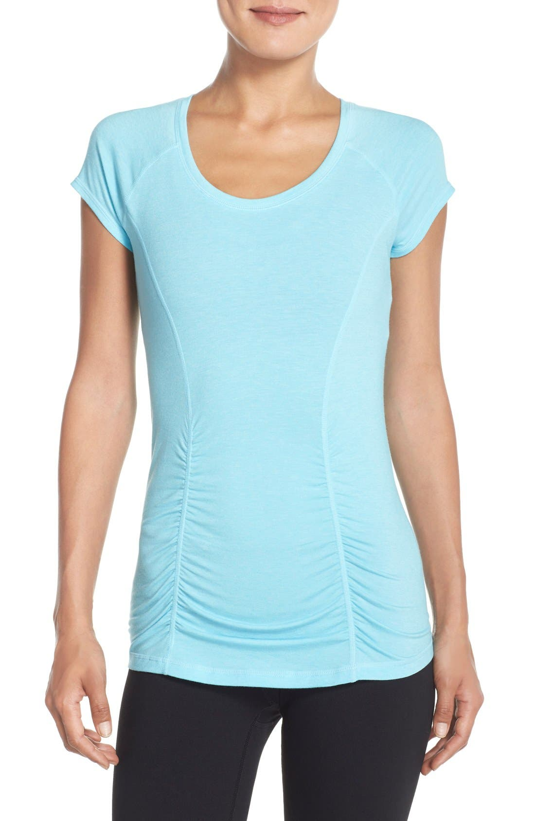 'Z 6' Ruched Tee,                             Main thumbnail 11, color,