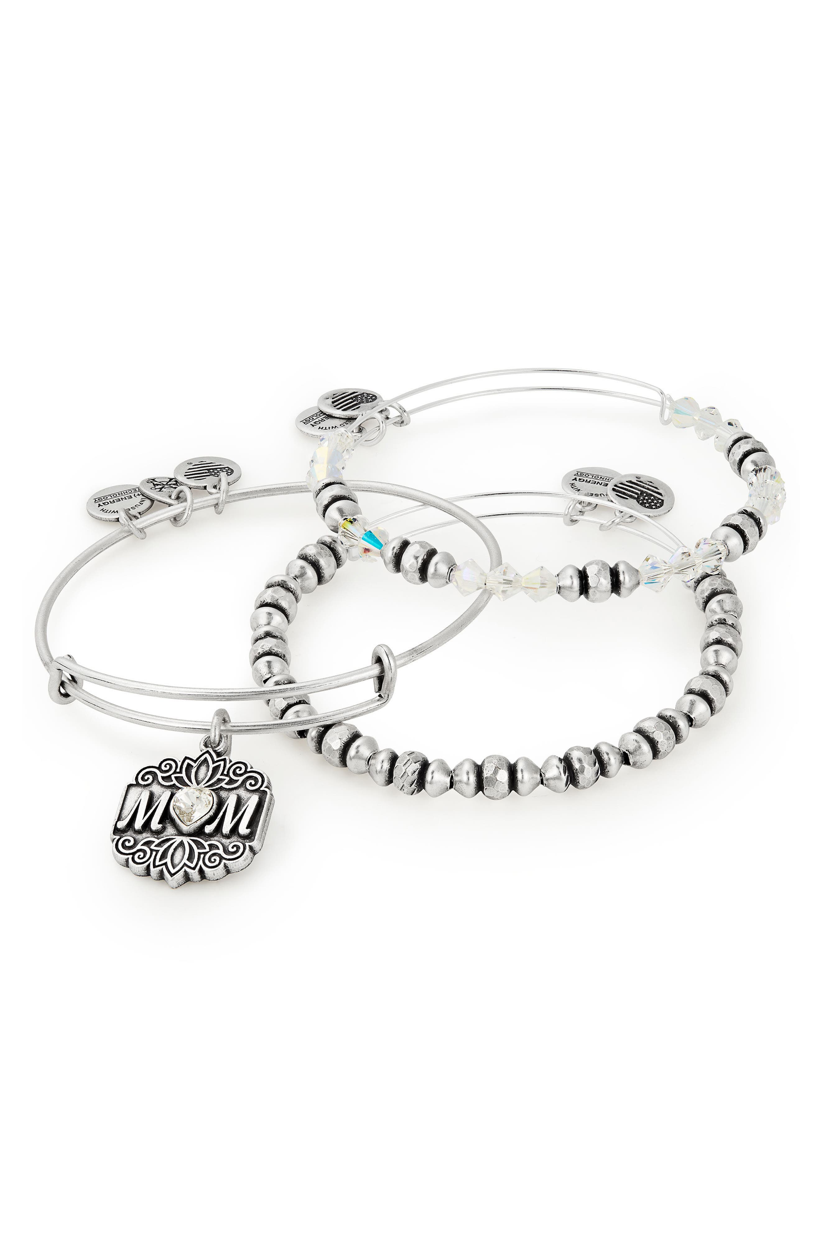 Set of 3 Mom Bracelets,                             Alternate thumbnail 2, color,                             040